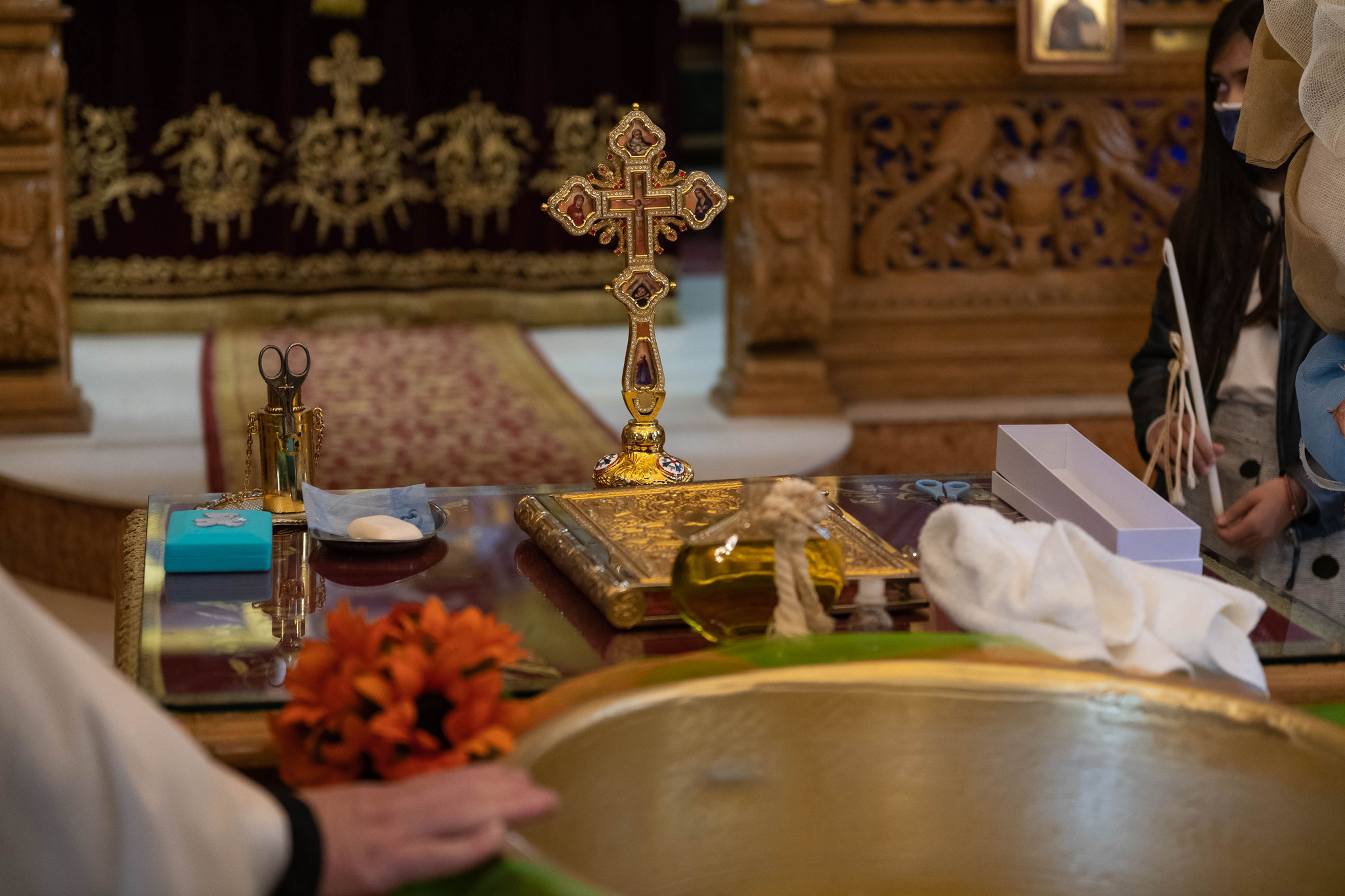 Fotograf und Videograf für griechische orthodoxe Taufe in Mainz, Frankfurt, Darmstadt, Offenbach