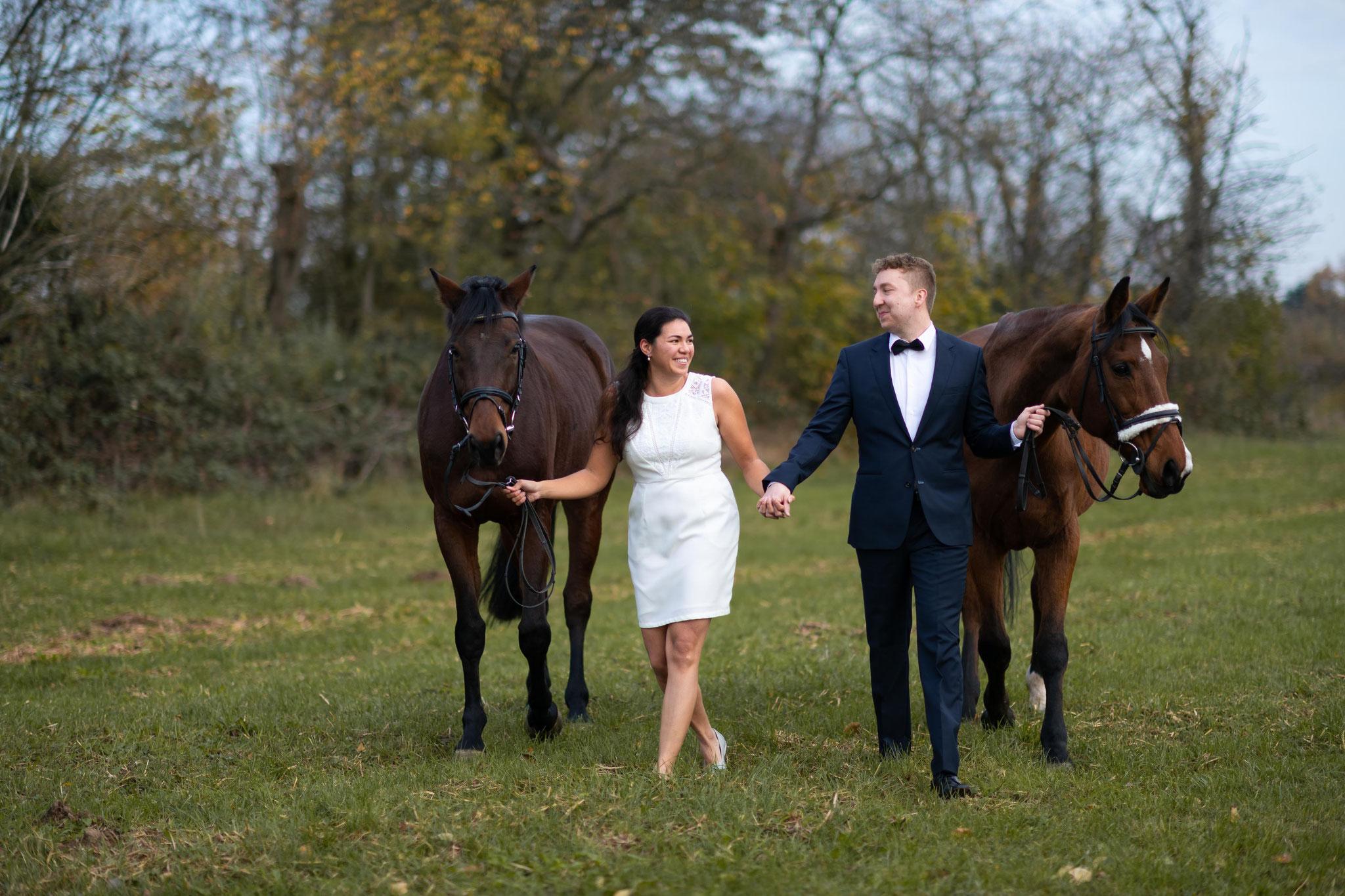Paarshooting mit Pferden