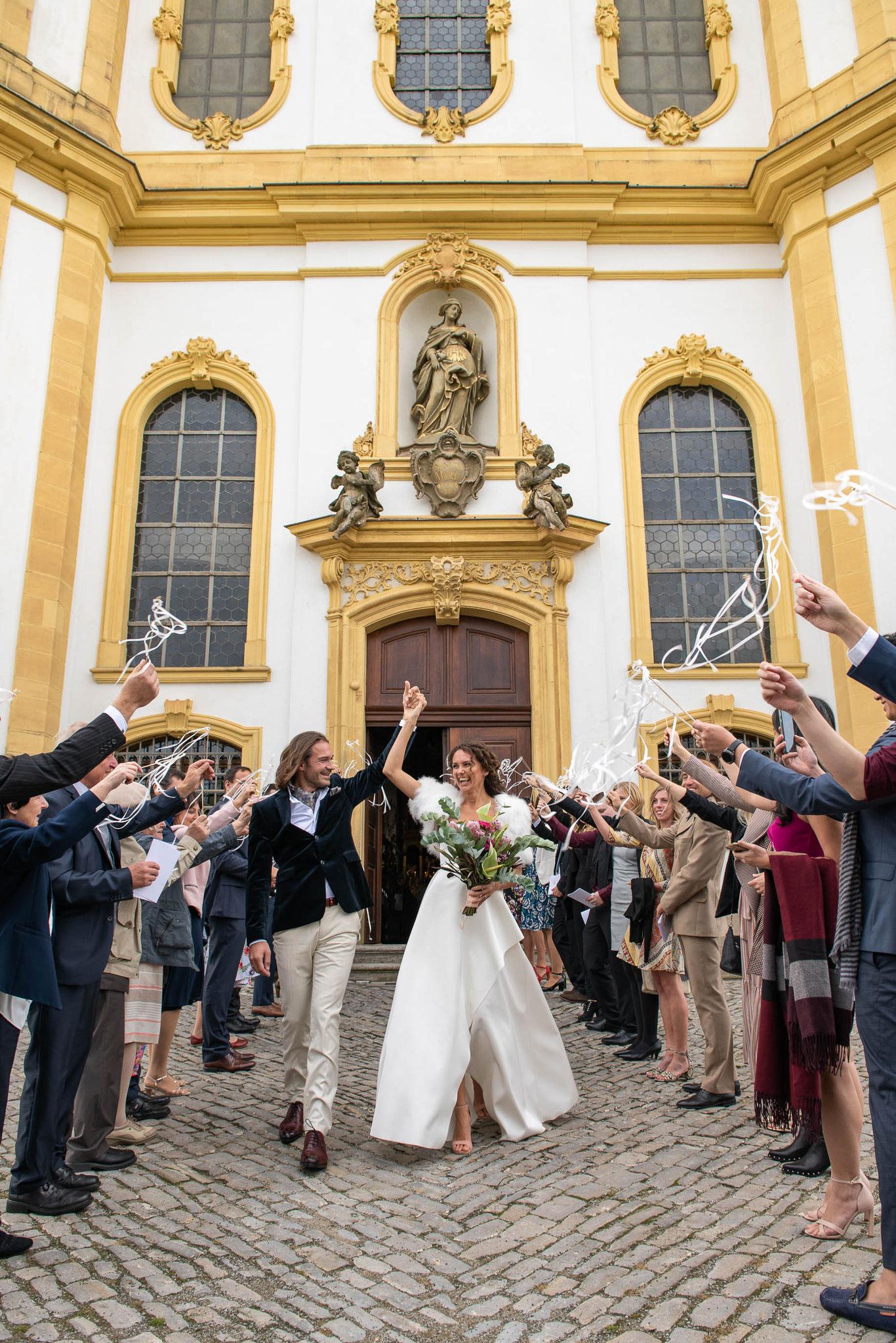 Professioneller Hochzeitsfotograf für Brautpaar Shootings nach der Trauung in Würzburg