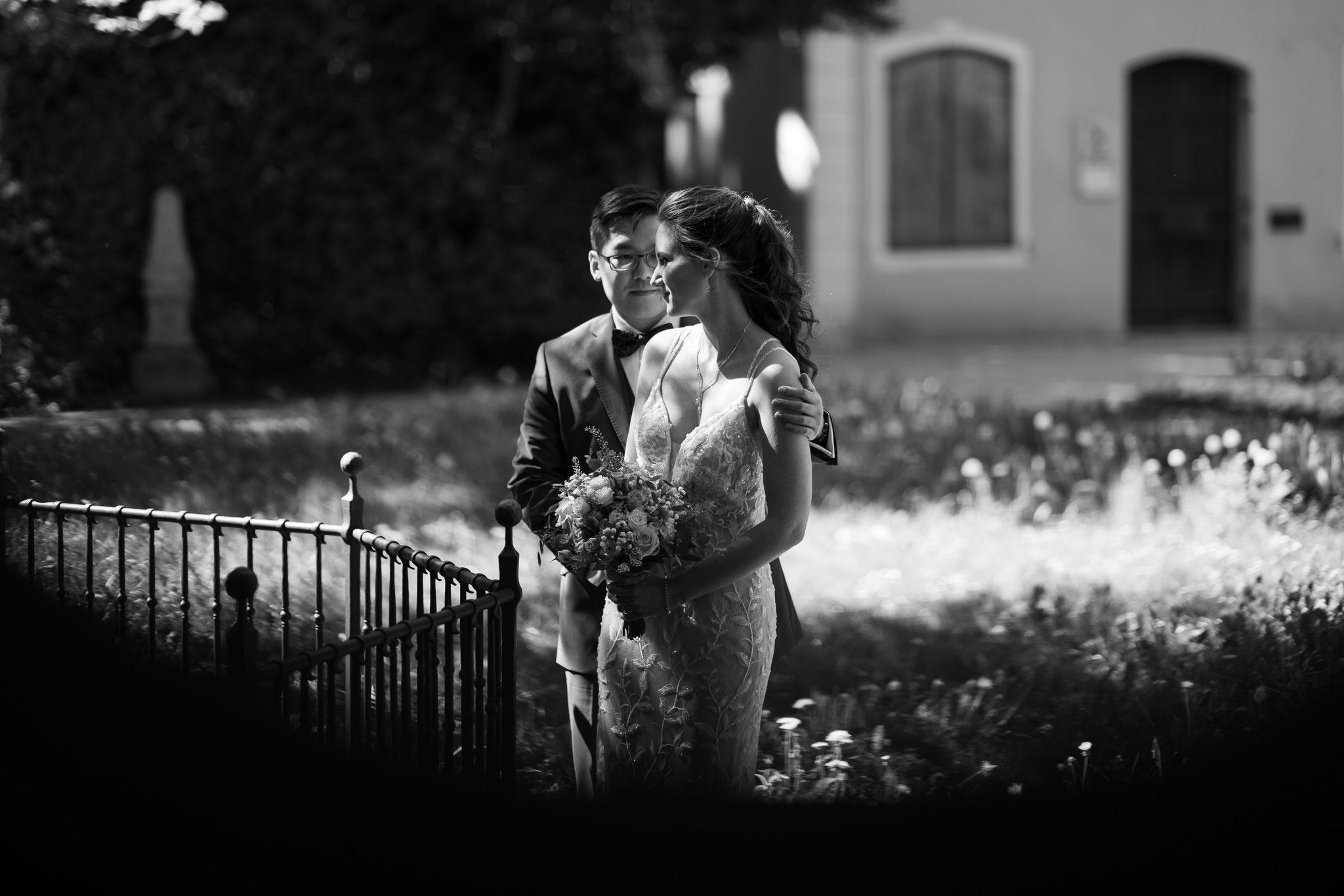 Retro Hochzeitsfotografie in schwarz weiß