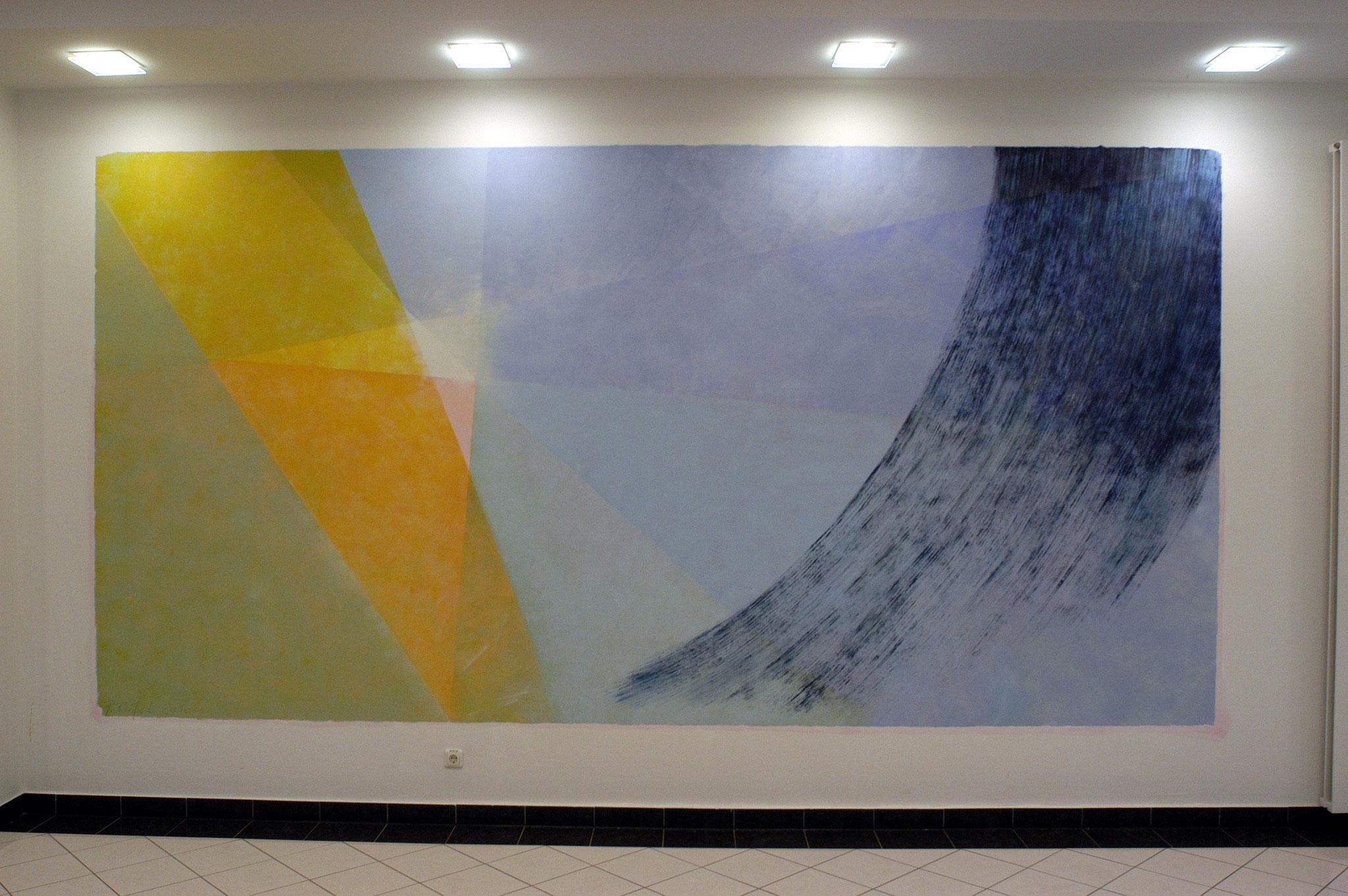 rechte Wand im Städtischen Klinikum Königstein - Acryl auf Wandfläche - ca. 3,50 x 6,50