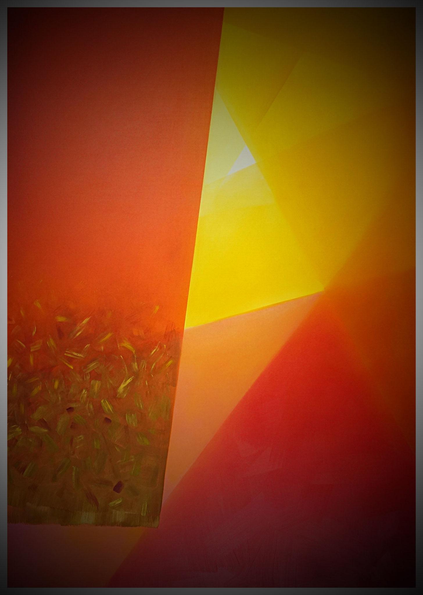 Rouge Royal - Ölfarbe auf Leinwand - 120x90