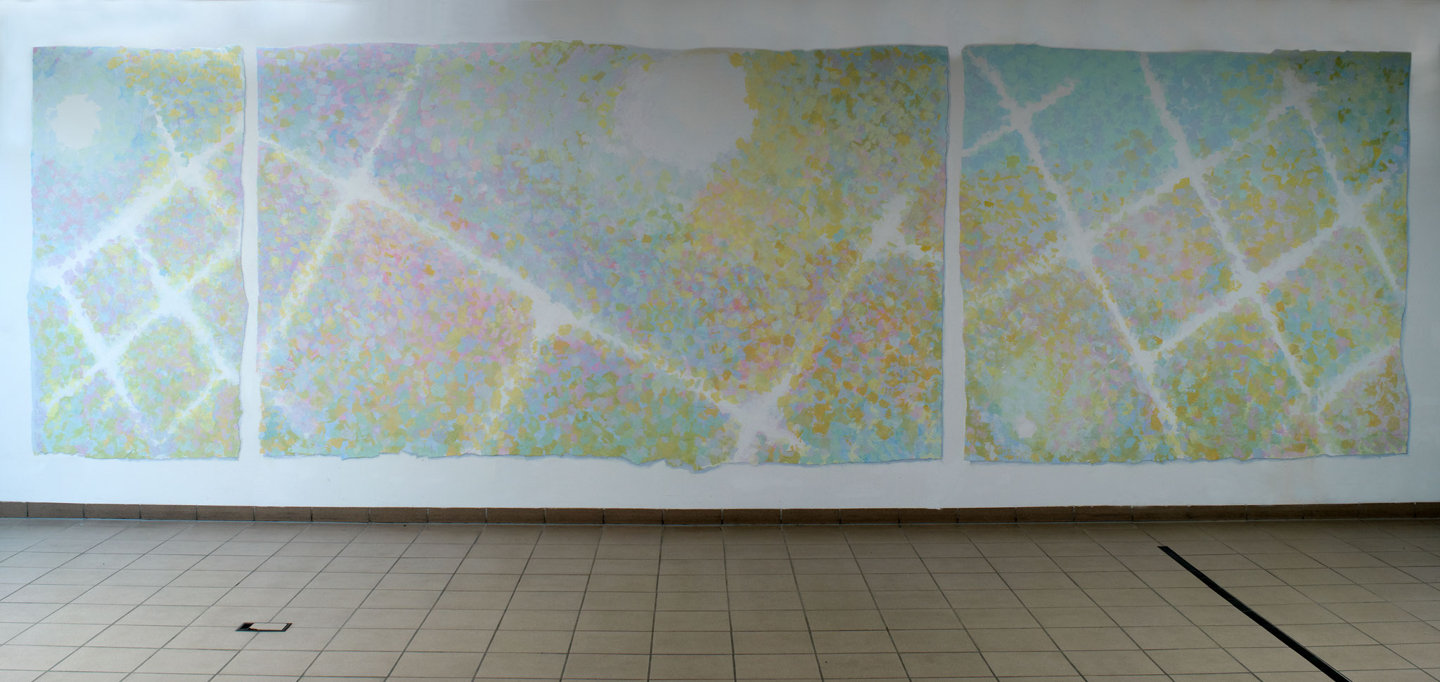 Festsaal im Katharinenstift Wiesbaden - Acryl auf Wandfläche - ca. 3,00 x 8,00