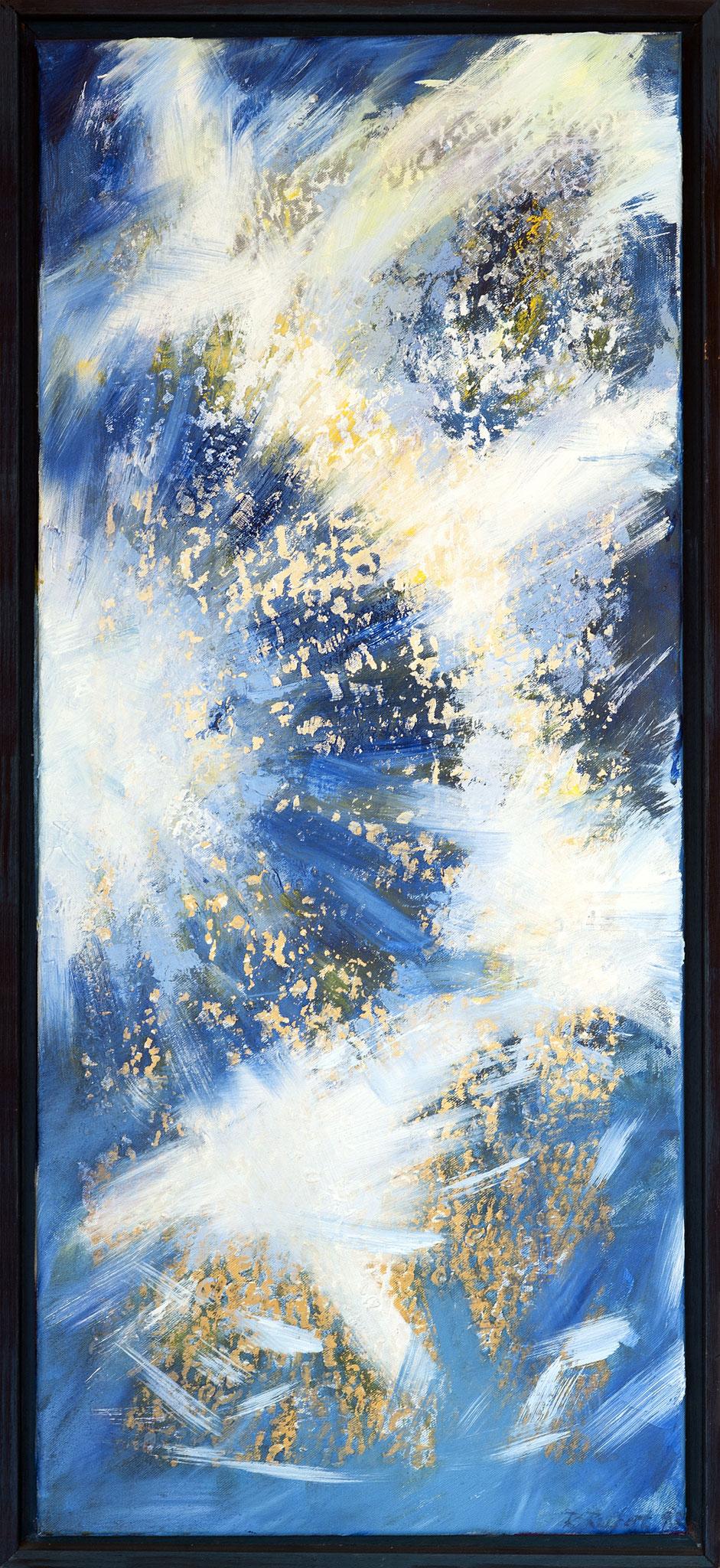 Kleines Triptychon- Mittelteil - Ölfarbe auf Leinwand- 95x40