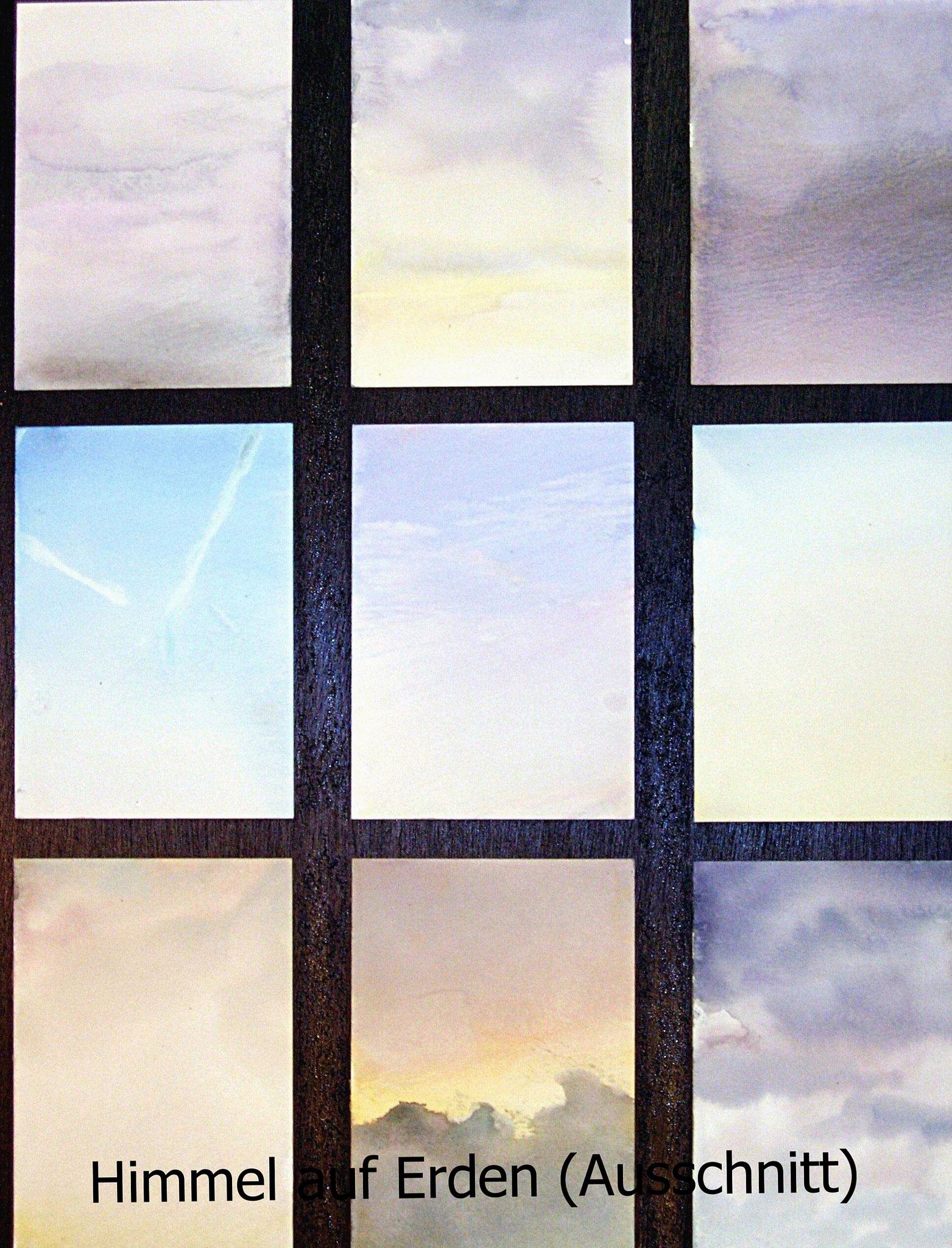 Himmel auf Erden - Aquarelle - Bodeninstallation
