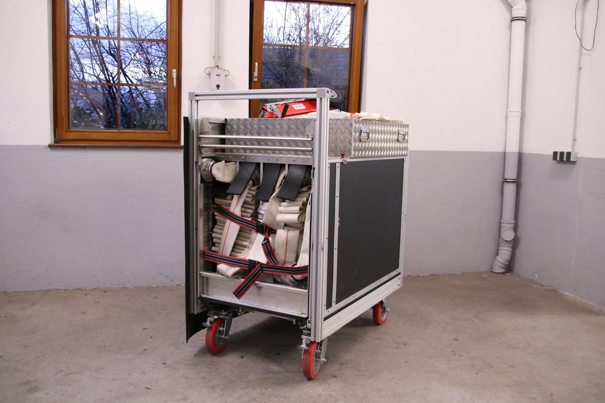 Rollcontainer mit 500 m B-Schläuchen (2x)