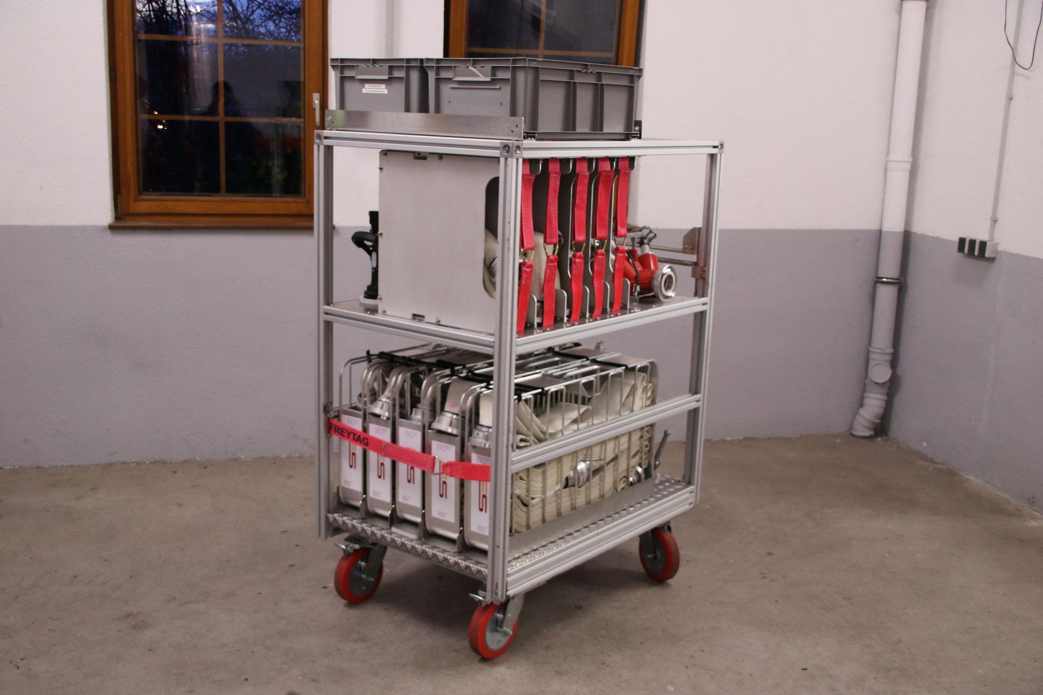 Rollcontainer Brandbekämpfung