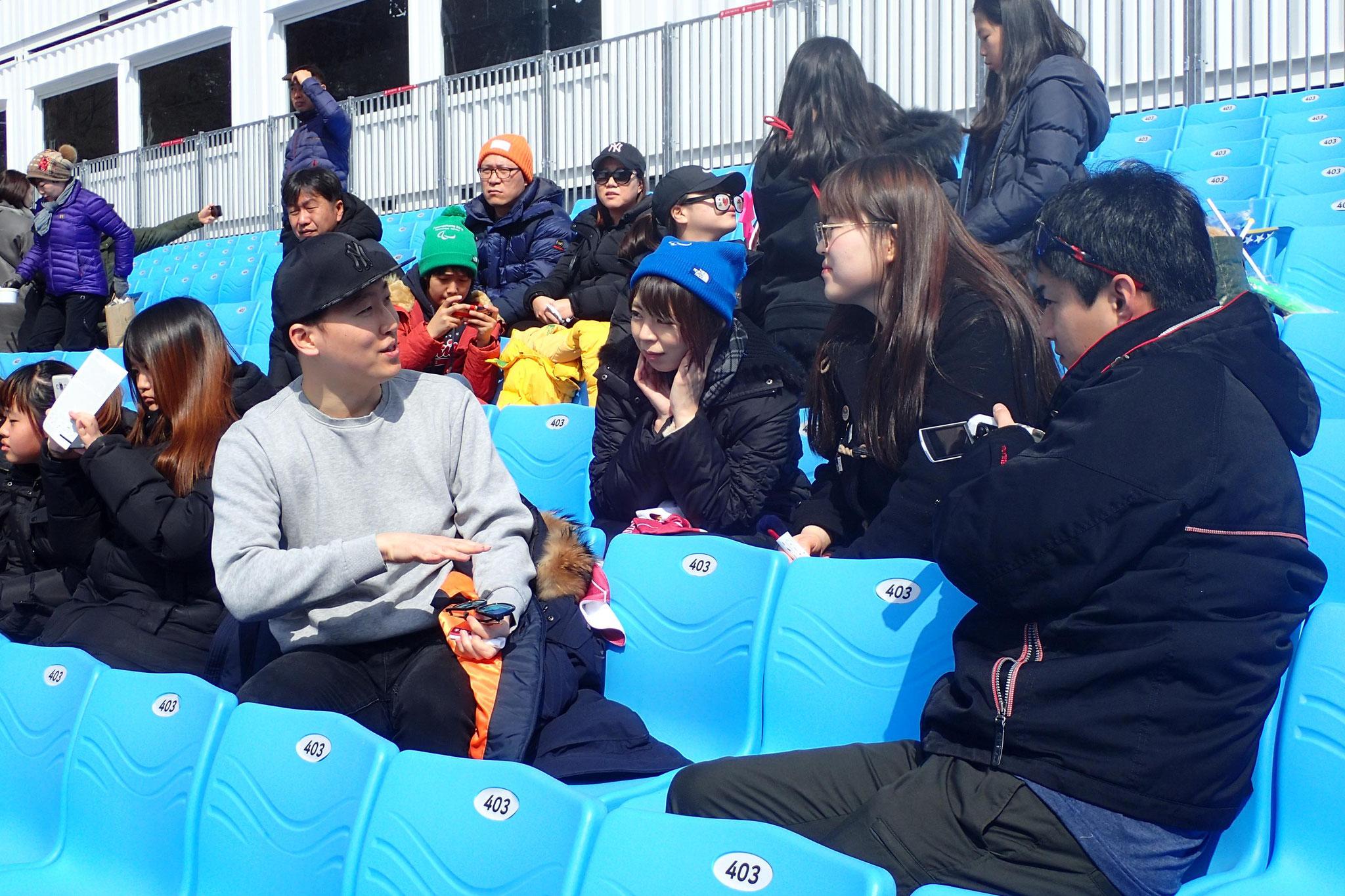小学生を連れて観戦に来ていた先生にパラ教育についてお話を聞きました