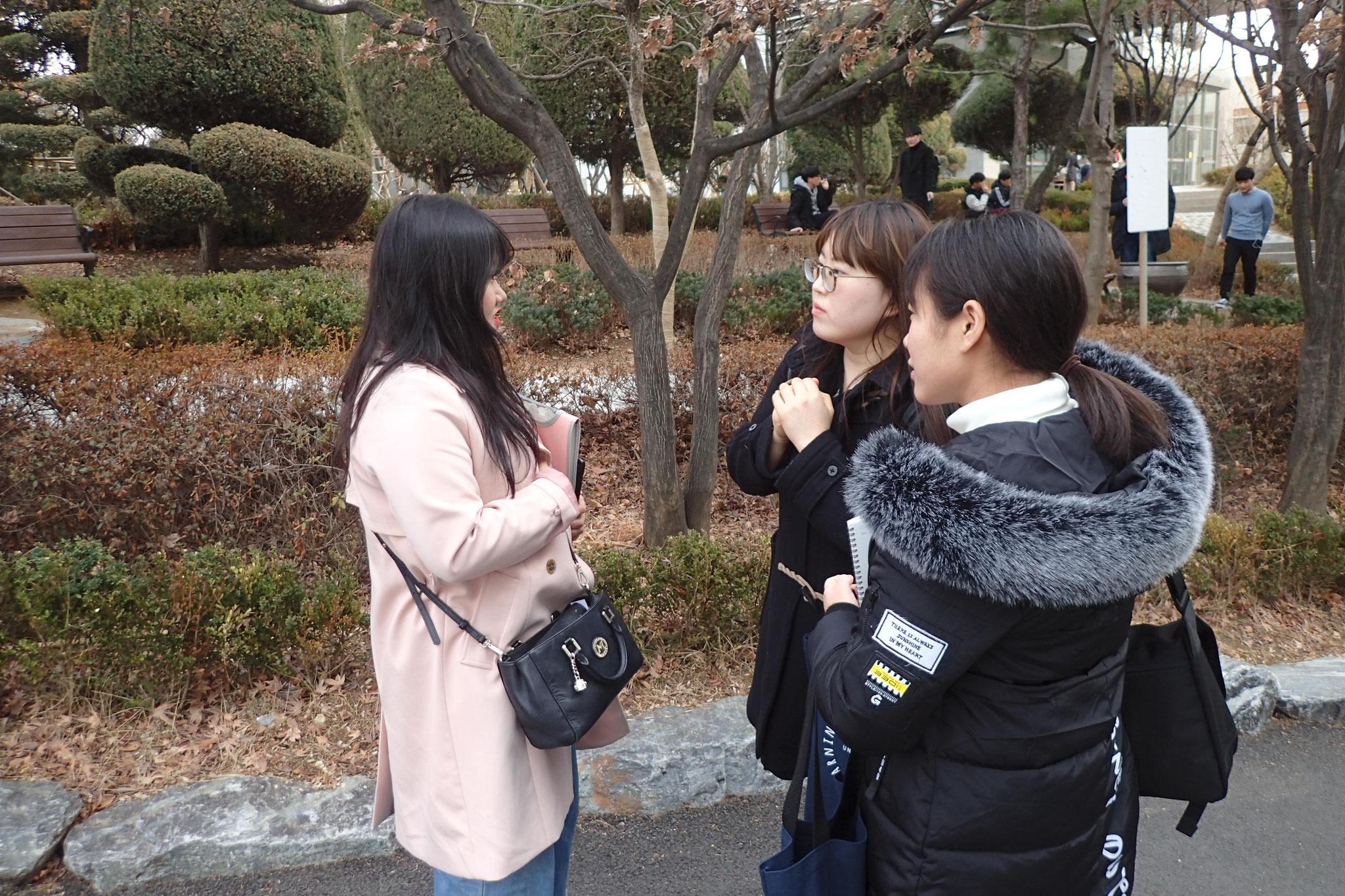 ソガン大学生にインタビュー