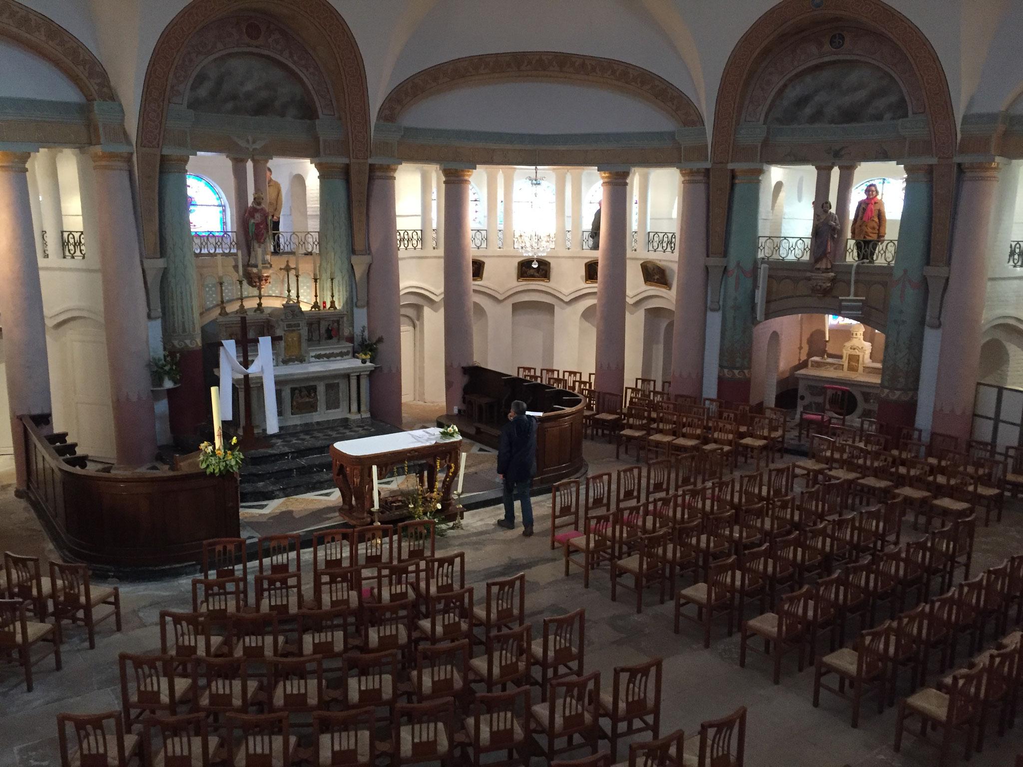 Intérieur de l'église Saint Didier d'Asfeld