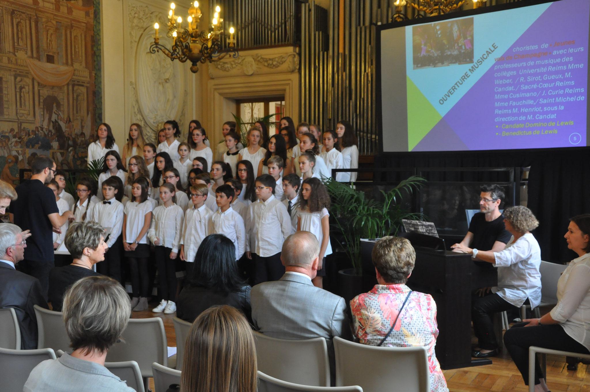 La chorale des Jeunes Voix de Champagne