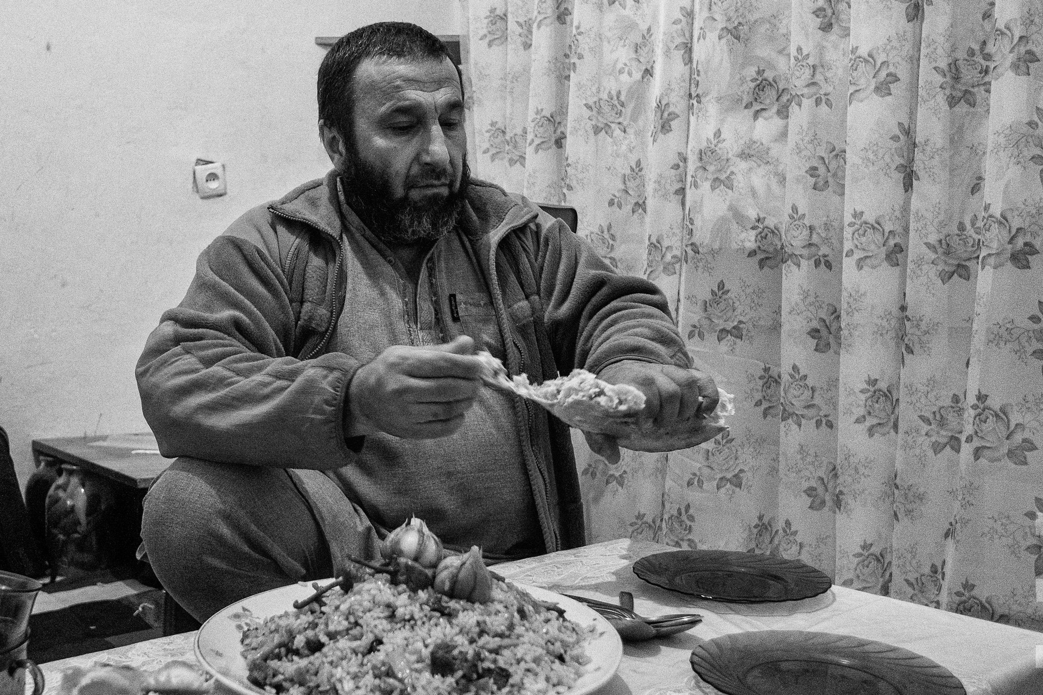 Commandar of Crimea Tartar Batallion, Crimea Tartar IDPs Collective house, near Vinitza, 2016