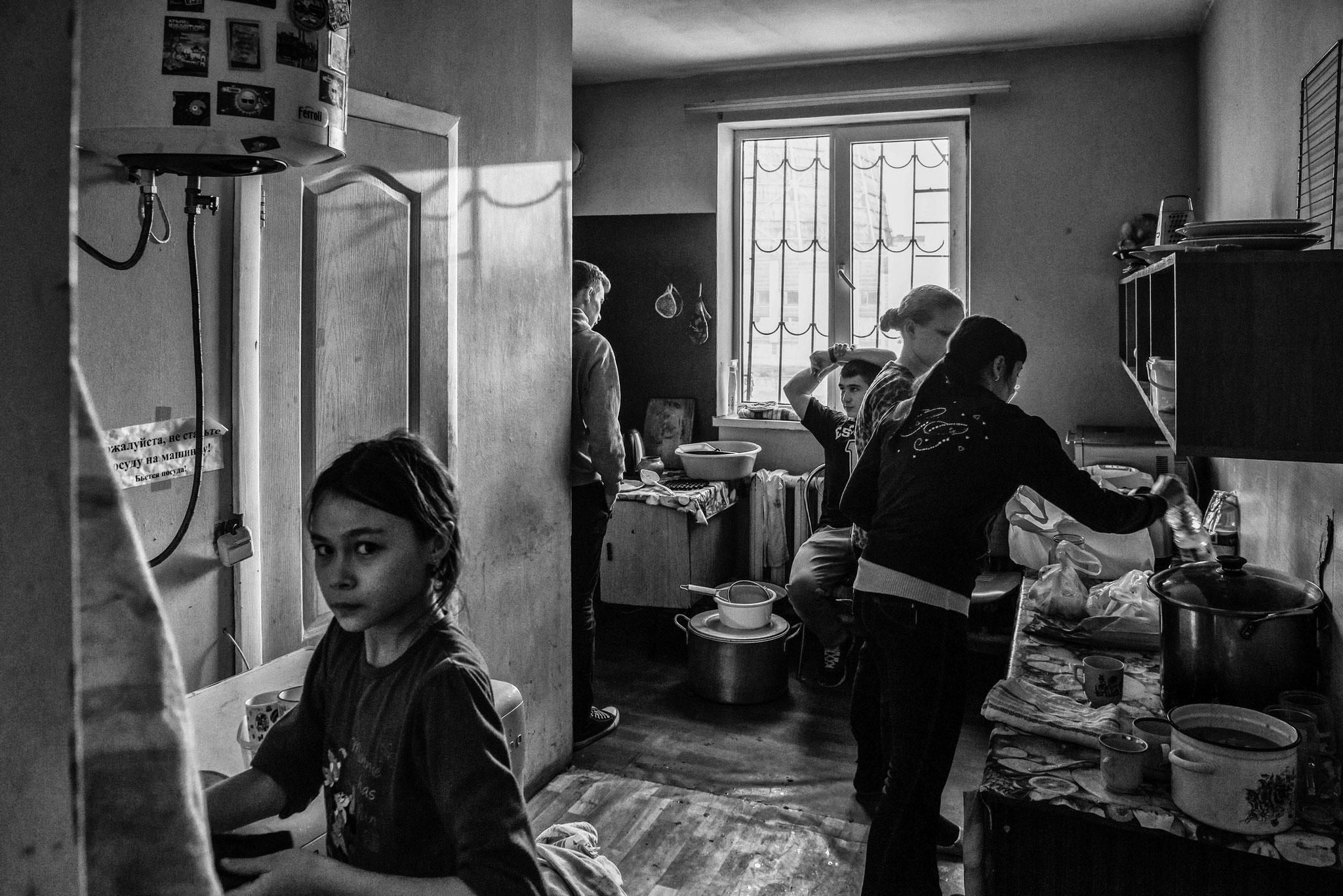 Collective House for IDPs, Kiev Nov. 2014