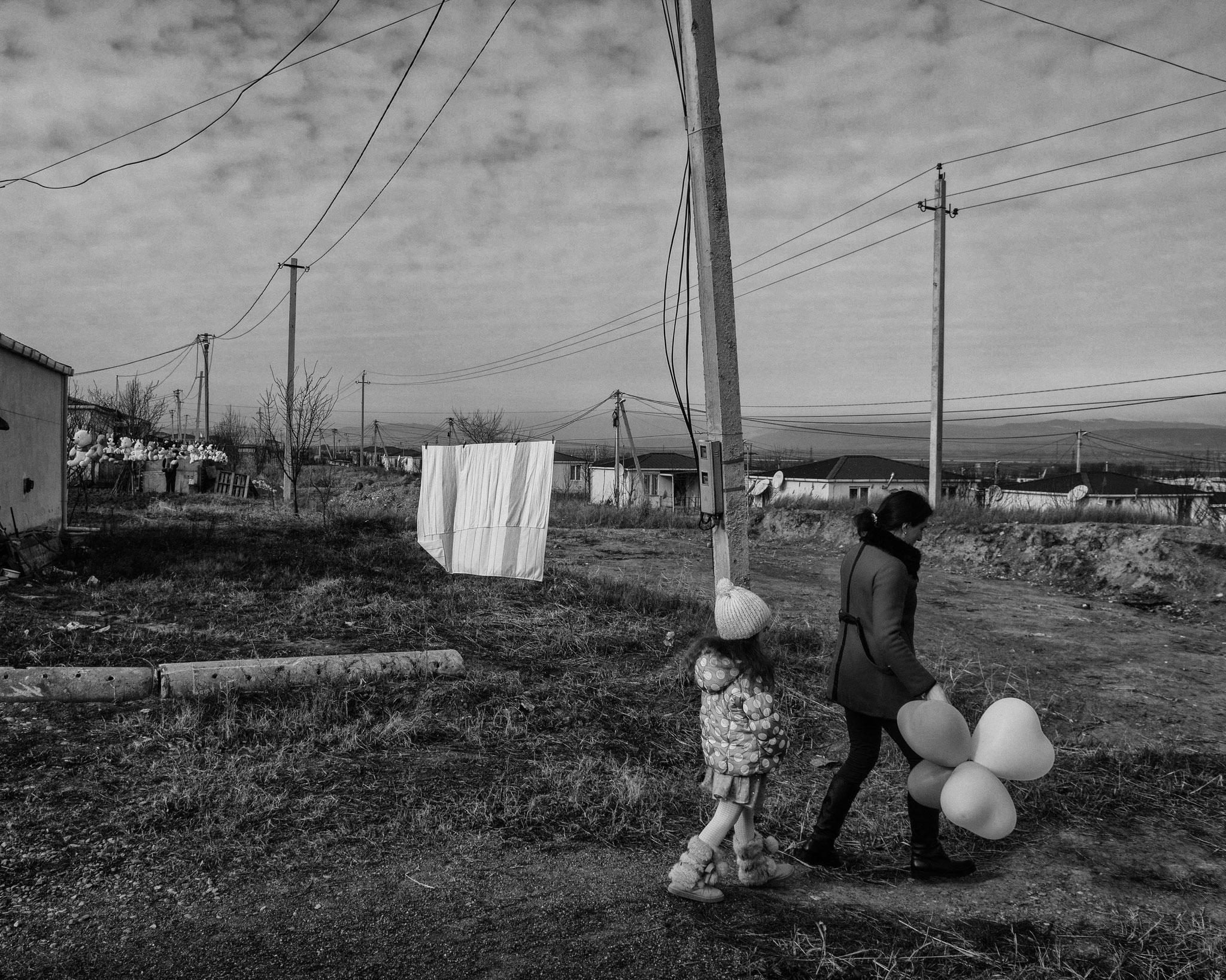 IDP from South Ossetia, Tserovani Refugee Camp, Georgia