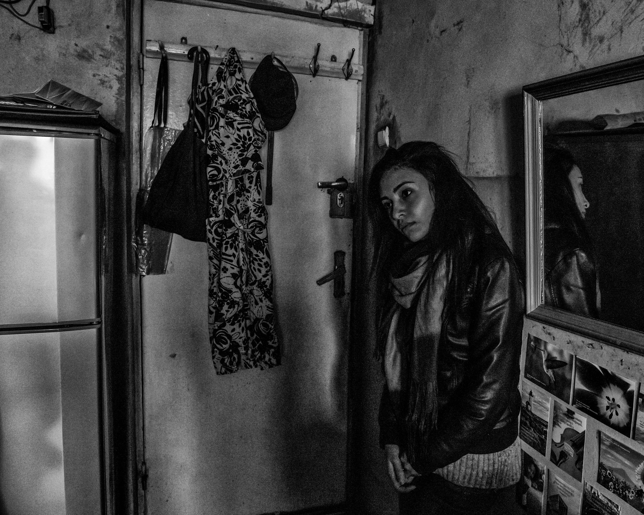 Yerevan, Collective House, Girl living together with her Grandma
