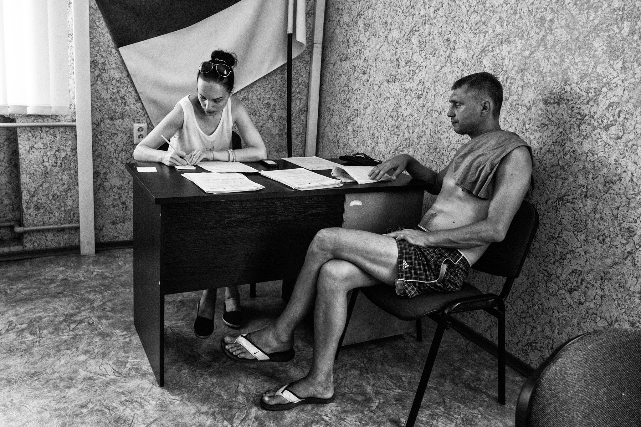 IDP Camp, Slovjansk, 2016