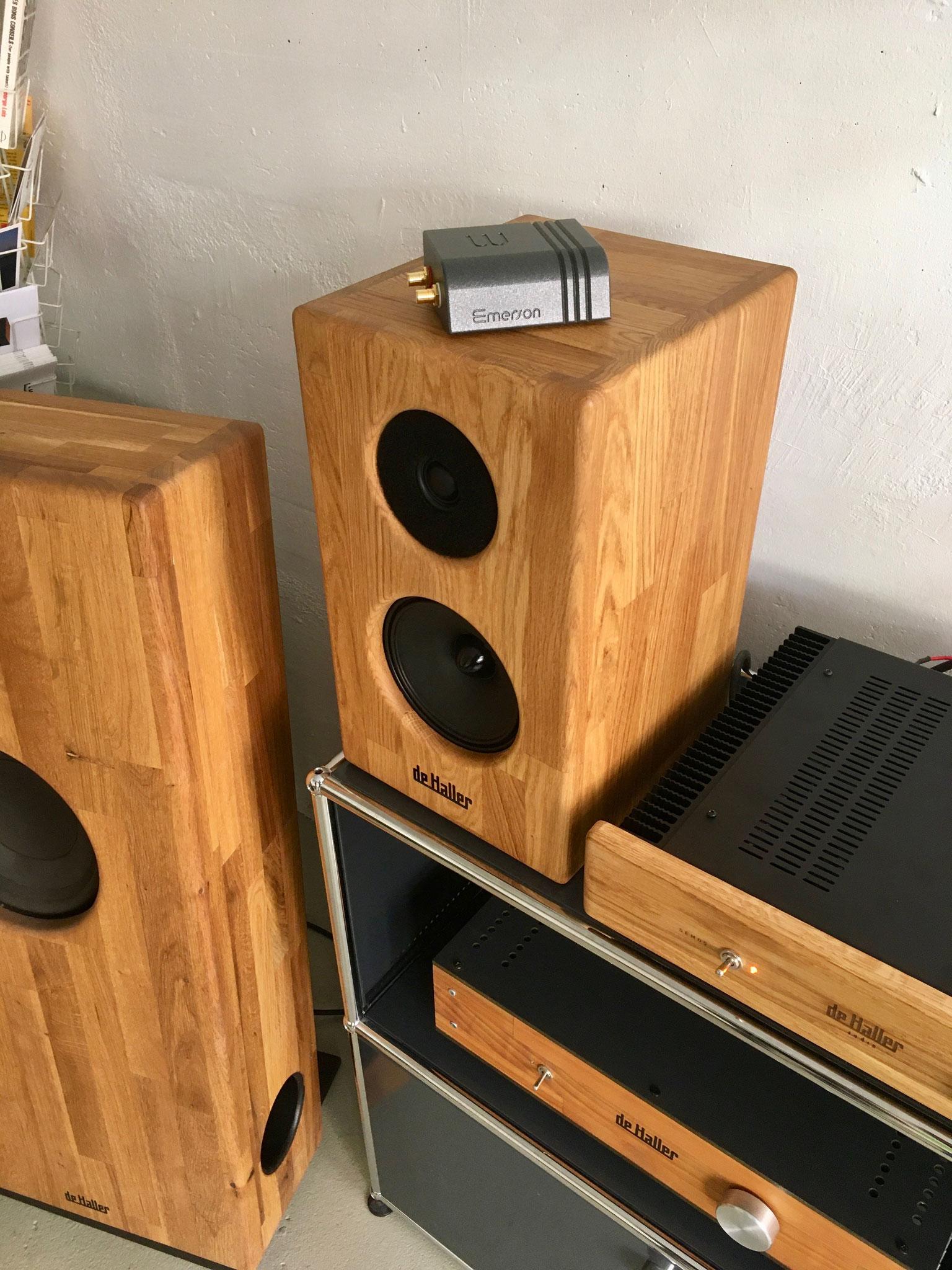 Streamer audio Wattson Audio Emerson Analog - Enceinte acoustique De Haller Dina 6 Dina 8, amplificateur Semos