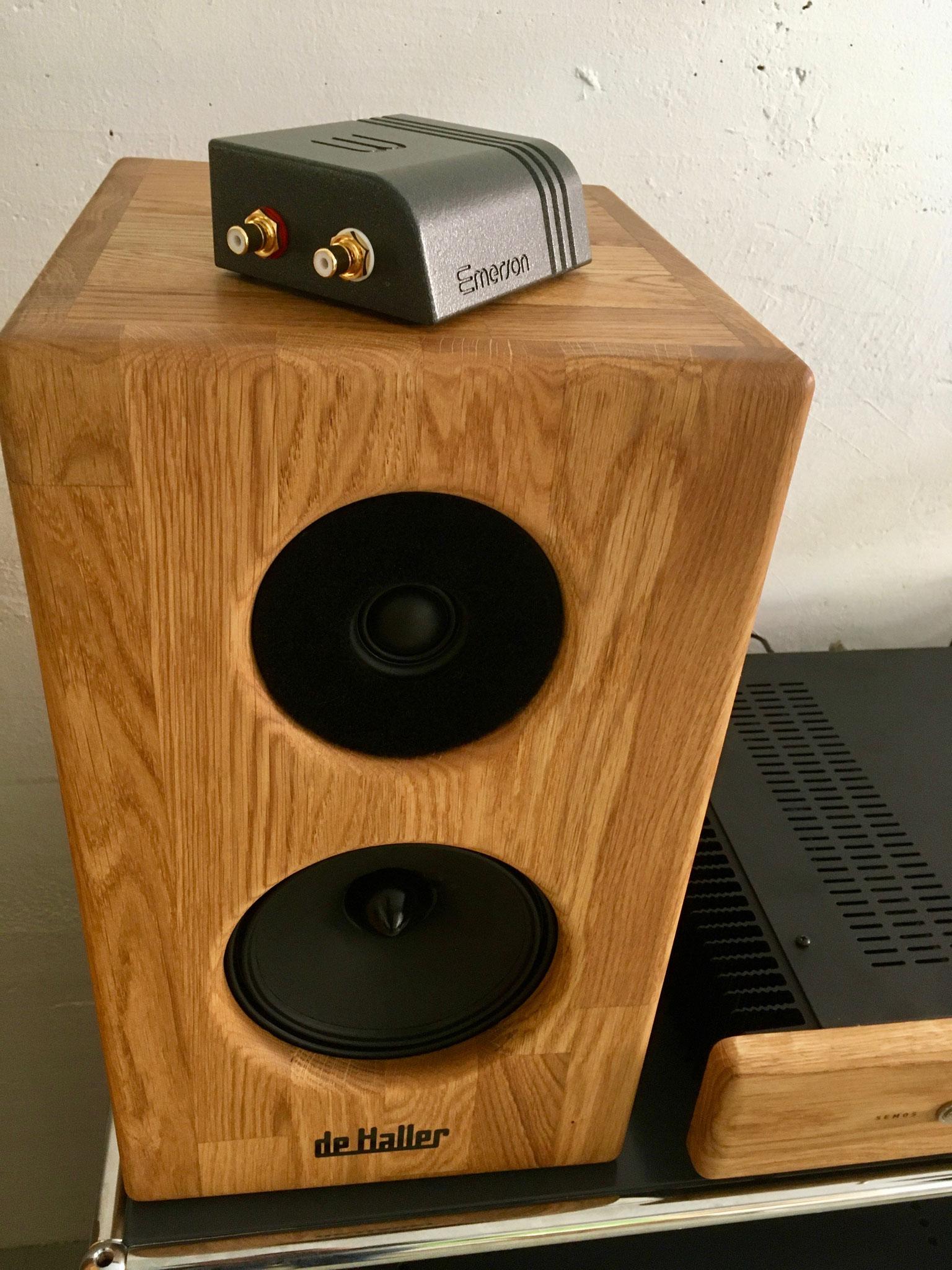 Streamer audio Wattson Audio Emerson Analog - Enceinte acoustique De Haller Dina 6, amplificateur Semos