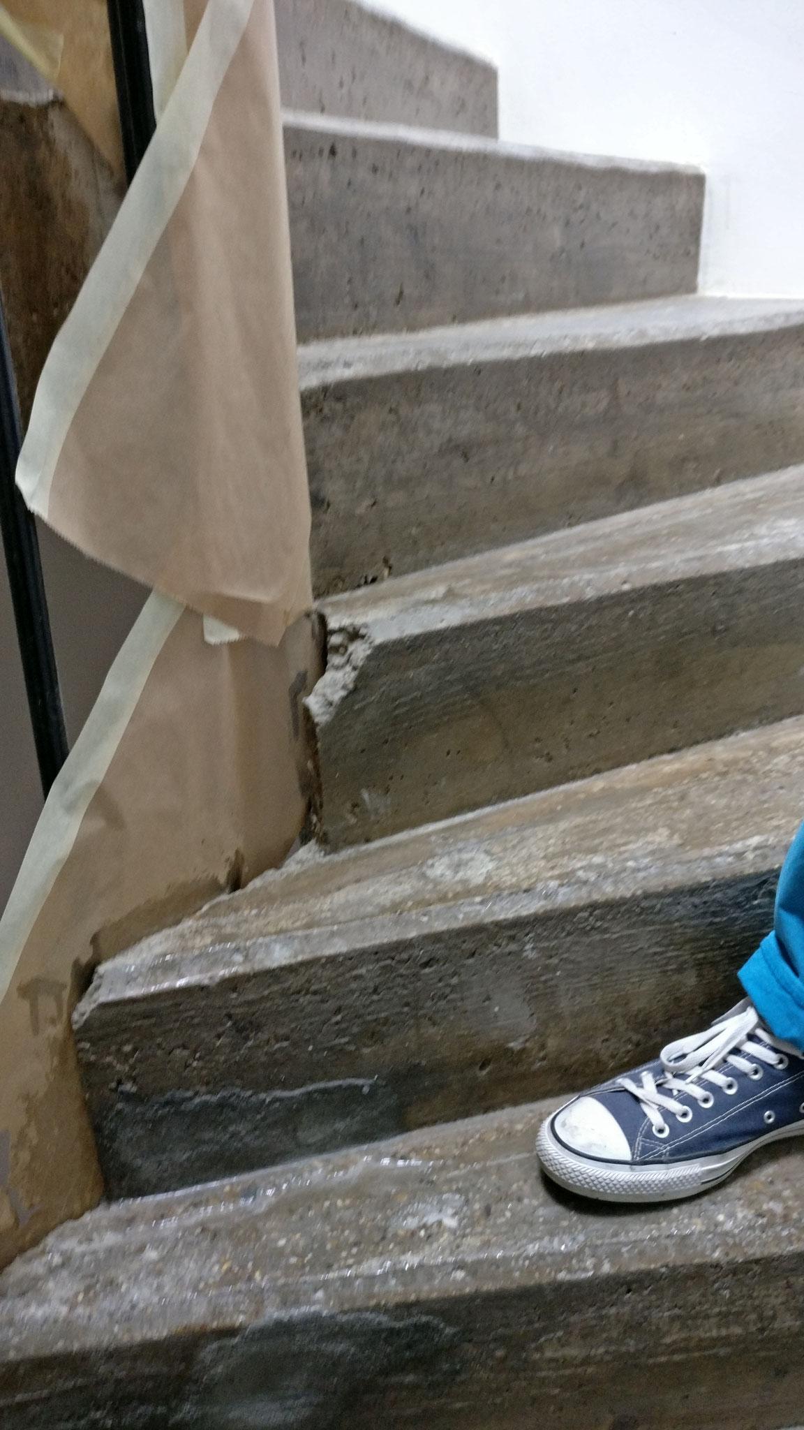 Stufen im Rohzustand