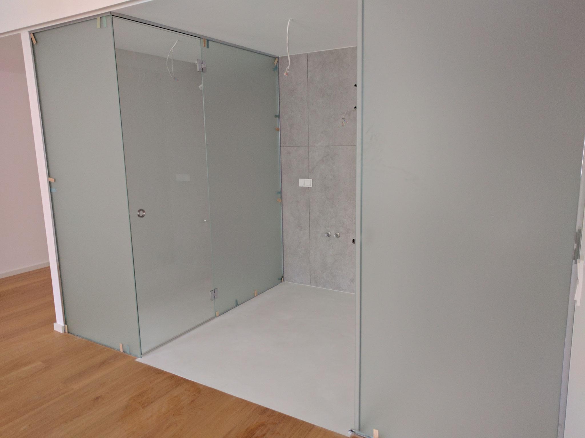 Badezimmer in Weissbeton