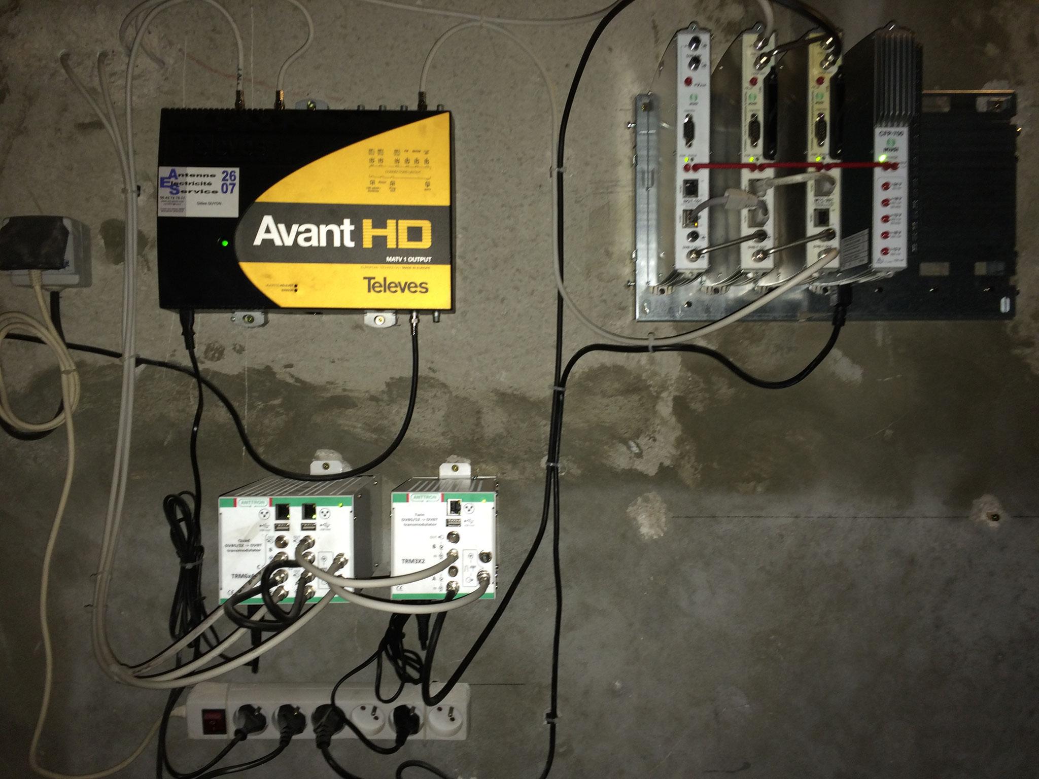 installation d'une station de tête Numerique HD (chaines étrangeres , 30 radios, canal, ...)  dans un hotel de 120 Ch