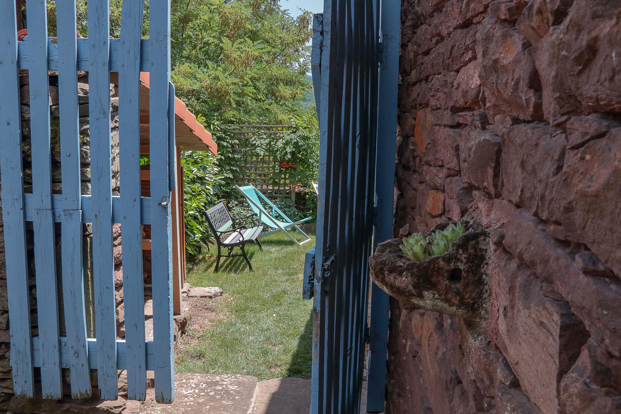Son jardin privé