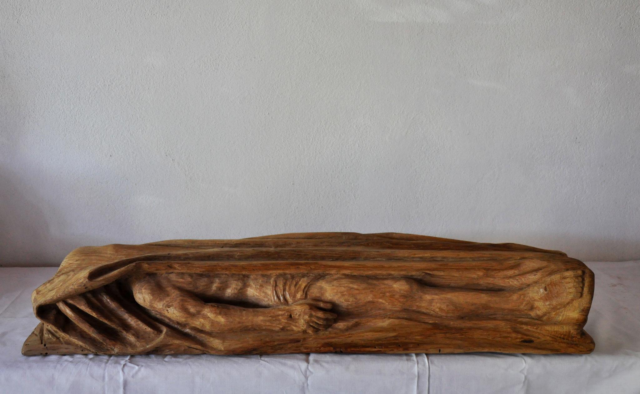ERWARTUNG DER AUFERWECKUNG  (Eiche  16 x 93 x 22 cm)