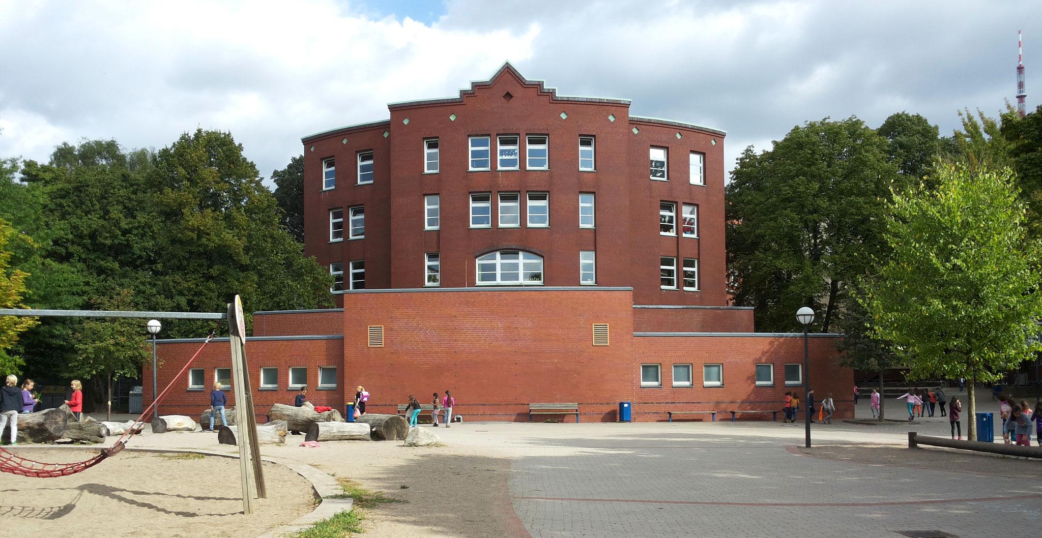 Klassik und Moderne in einem: Unser Schulgebäude.