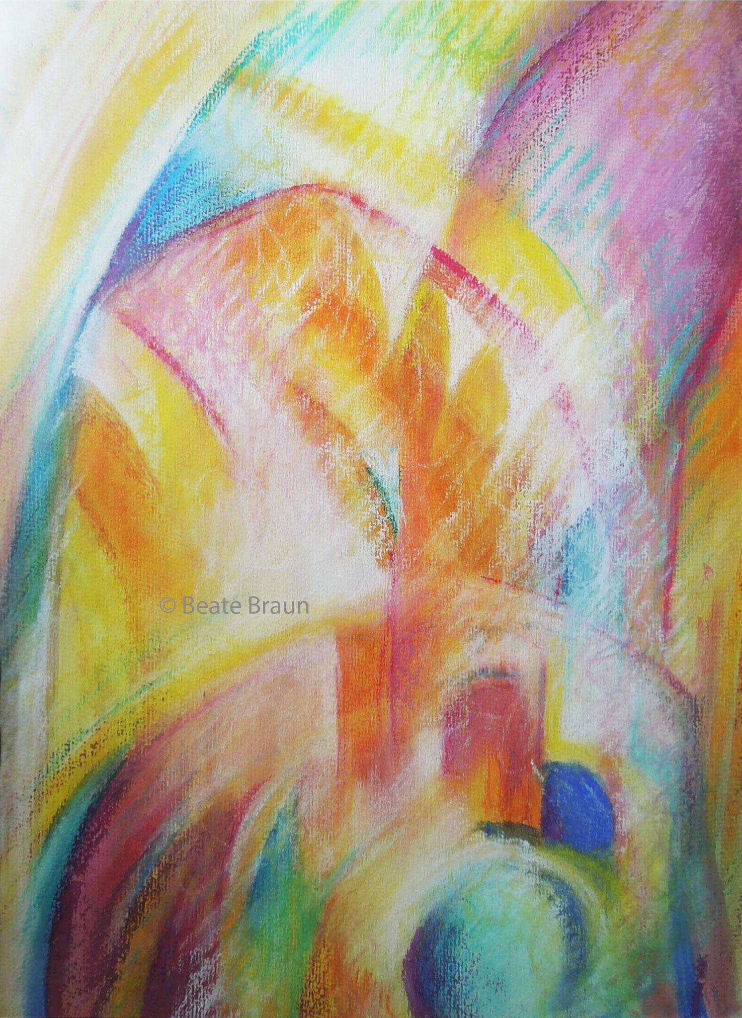 Farbentraum | 30 x 44 cm | Pastellkreide auf Papier | 2005