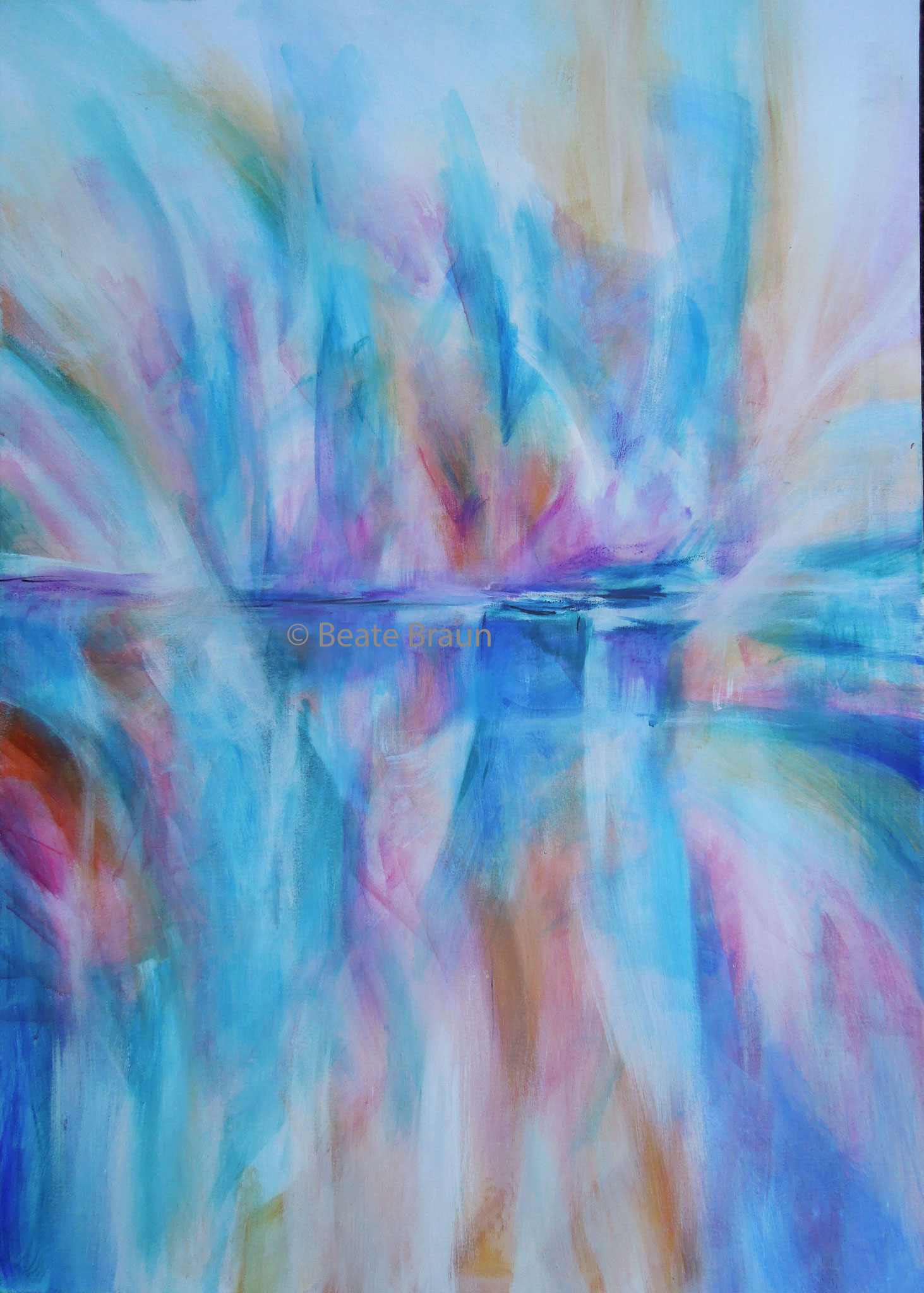 Spiegelung 2 | 70 x 100cm | Acryl auf Leinwand | 2017