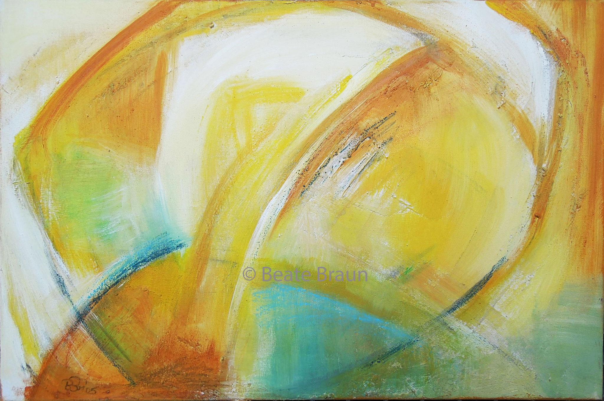 Brücke ins Licht | 60 x 40 cm | Acryl auf Leinwand | 2005