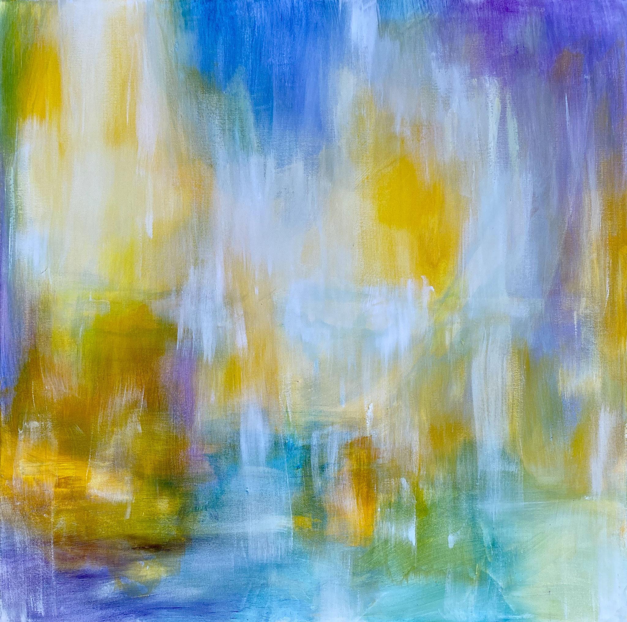Spiegelung 3 | 100 x 100cm | Acryl auf Leinwand | 2020