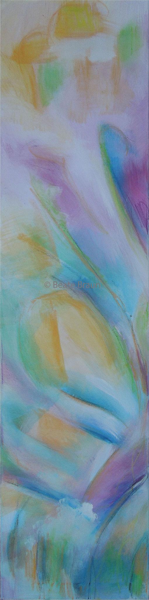 Erblühen 1 | 30 x 100cm | Acryl auf Leinwand | 2017