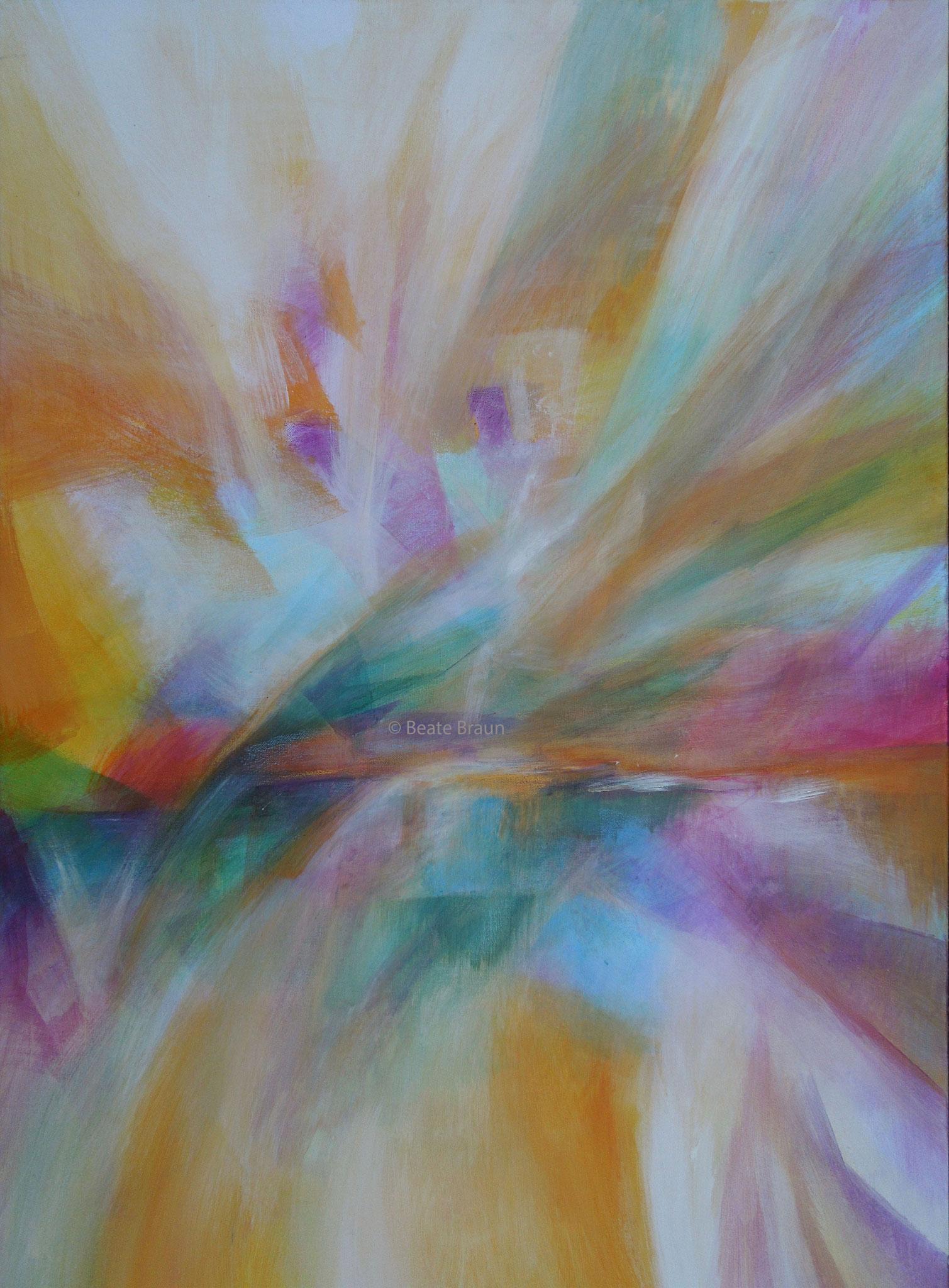 Kristalllandschaft | 70 x 100cm | Acryl auf Leinwand | 2017