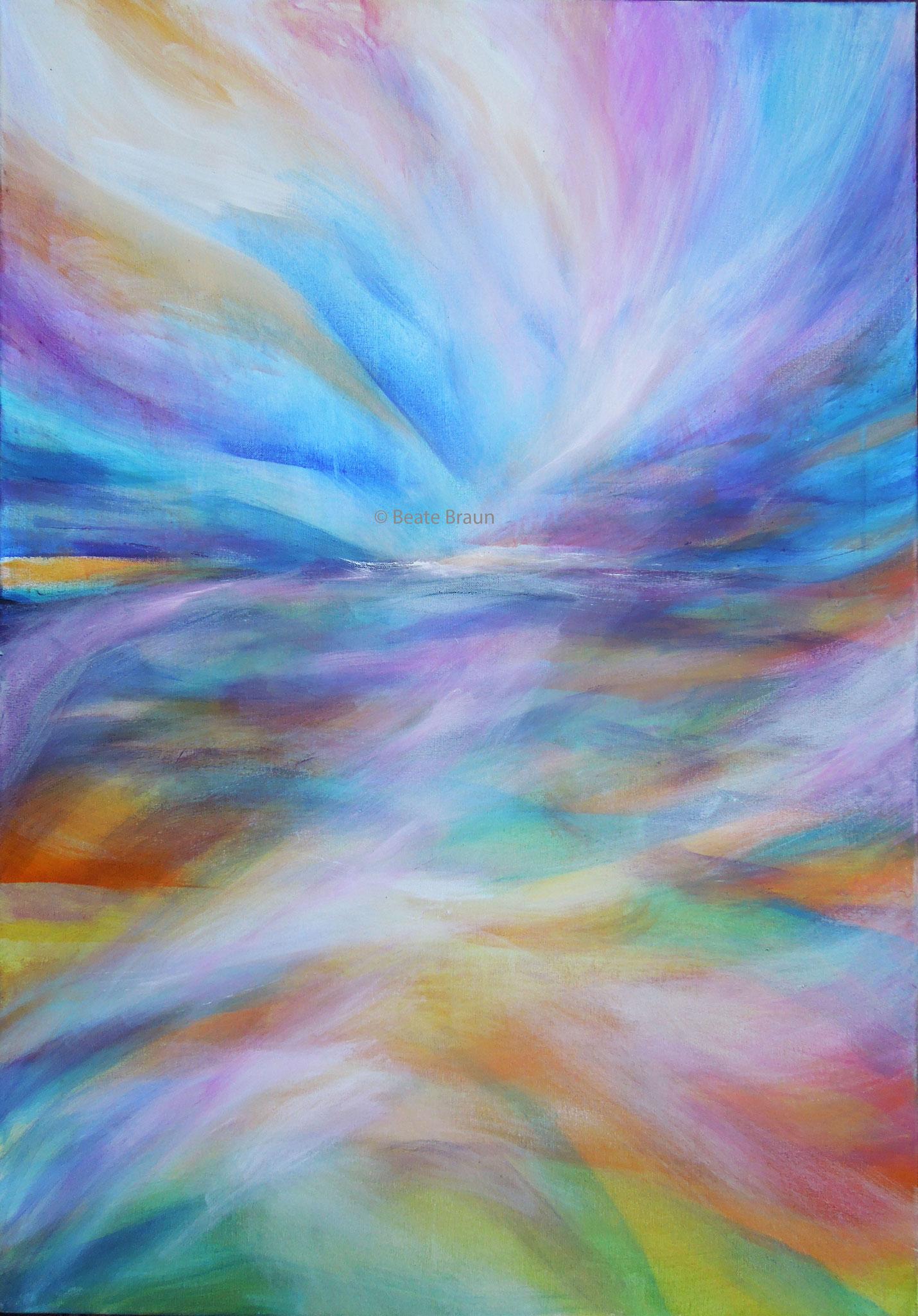 Spiegelung 1 | 70 x 100cm | Acryl auf Leinwand | 2017