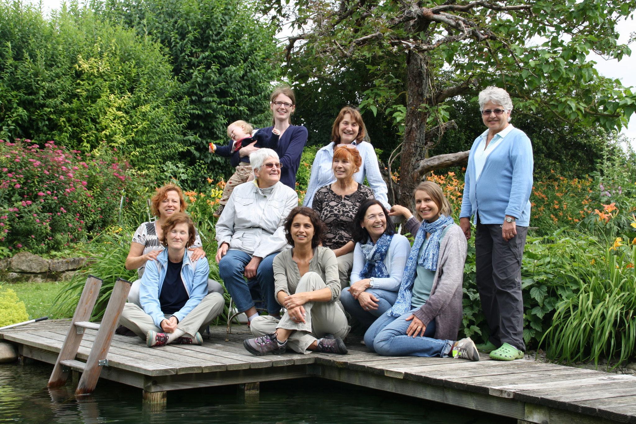 ... nach einer Wanderung im wunderschönen Garten von Annemarie (2015)
