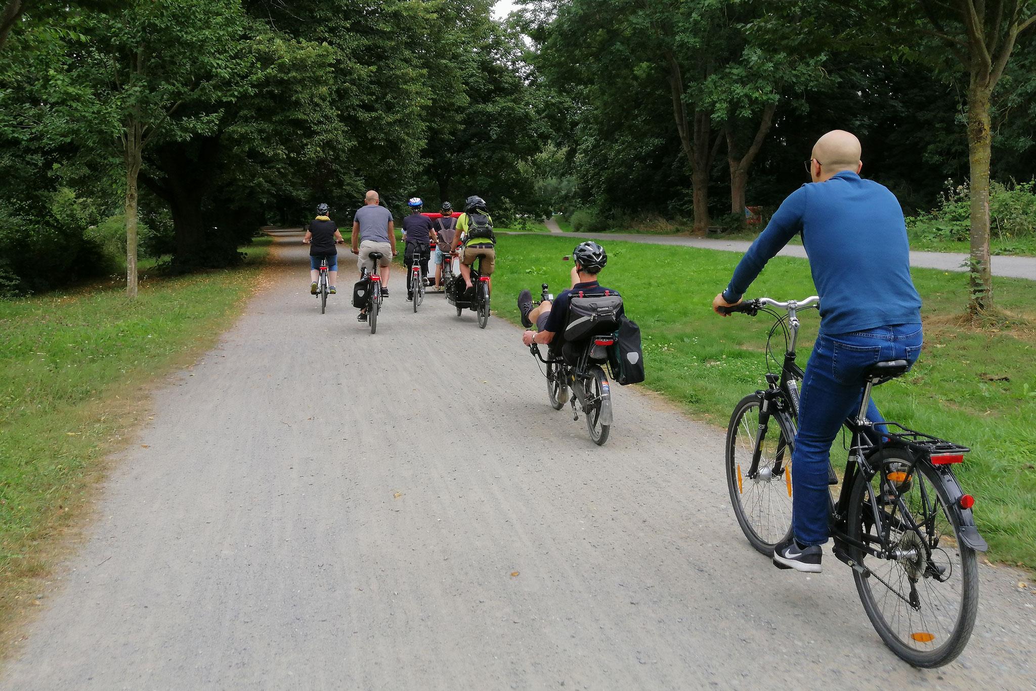 7.8.21, Fahrradtour mit Rikschas, Hildesheim