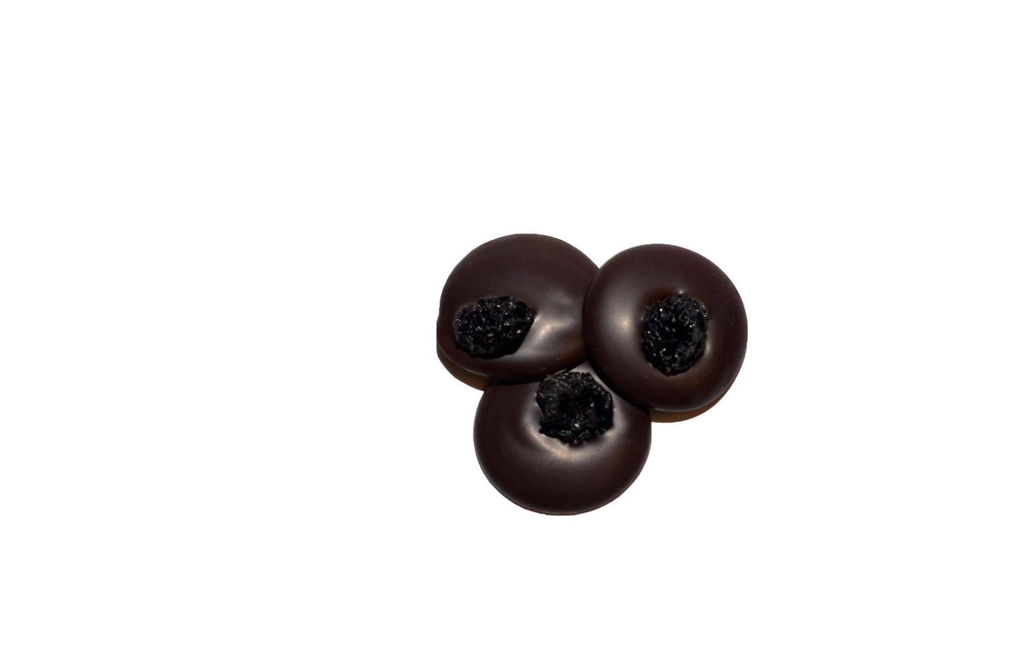 Zartbitter-Schokoladentaler Sauerkirsche