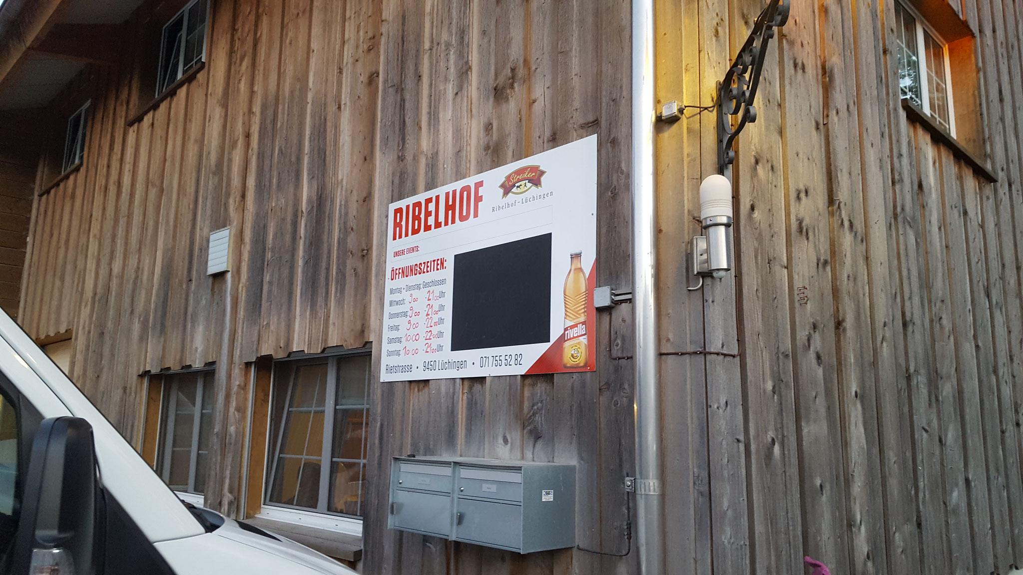 Nachtessen im Ribelhof in Altstätten