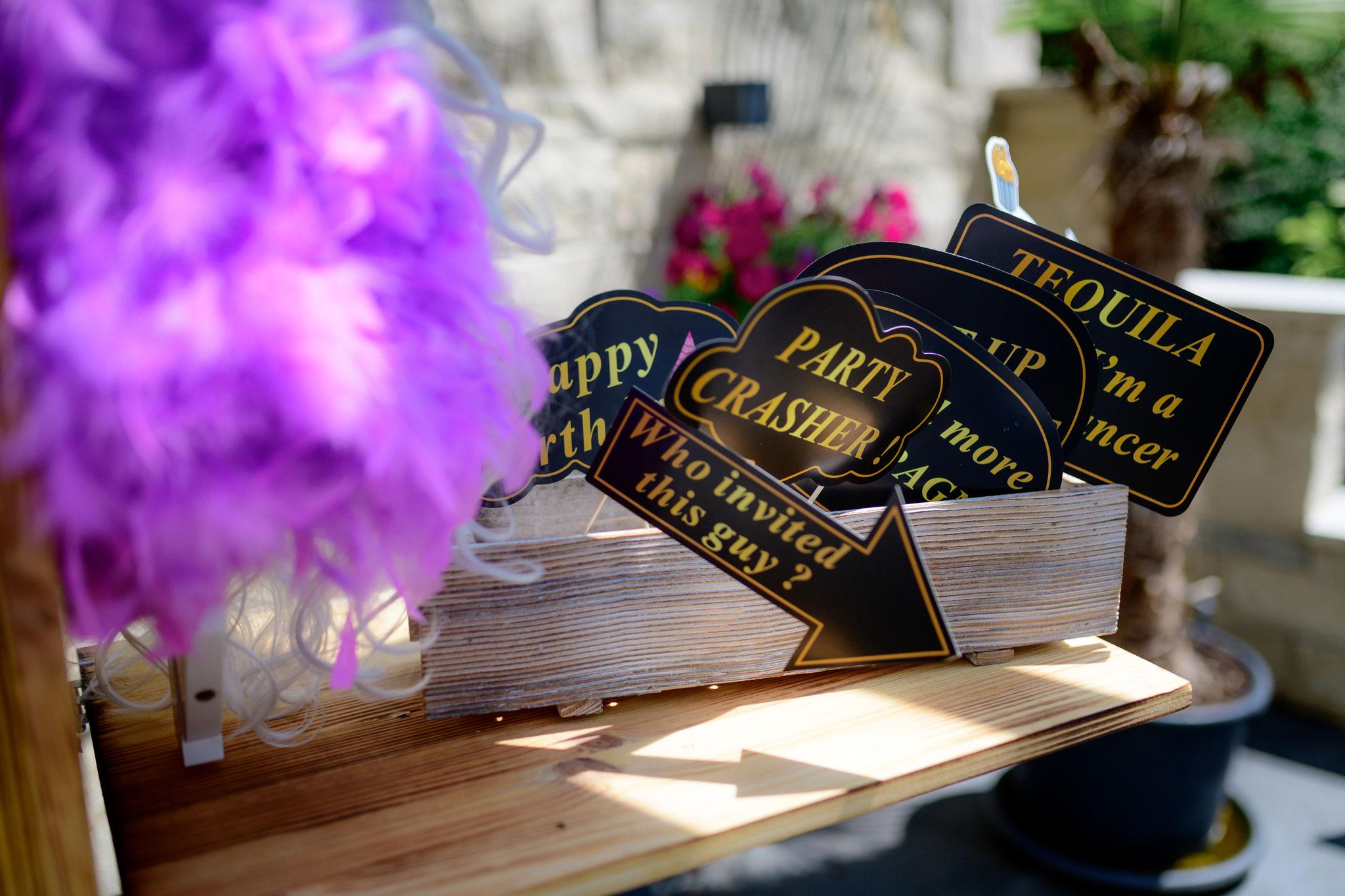 Individuelle Fun Accessoires für runde Geburtstage, Hochzeiten und mehr