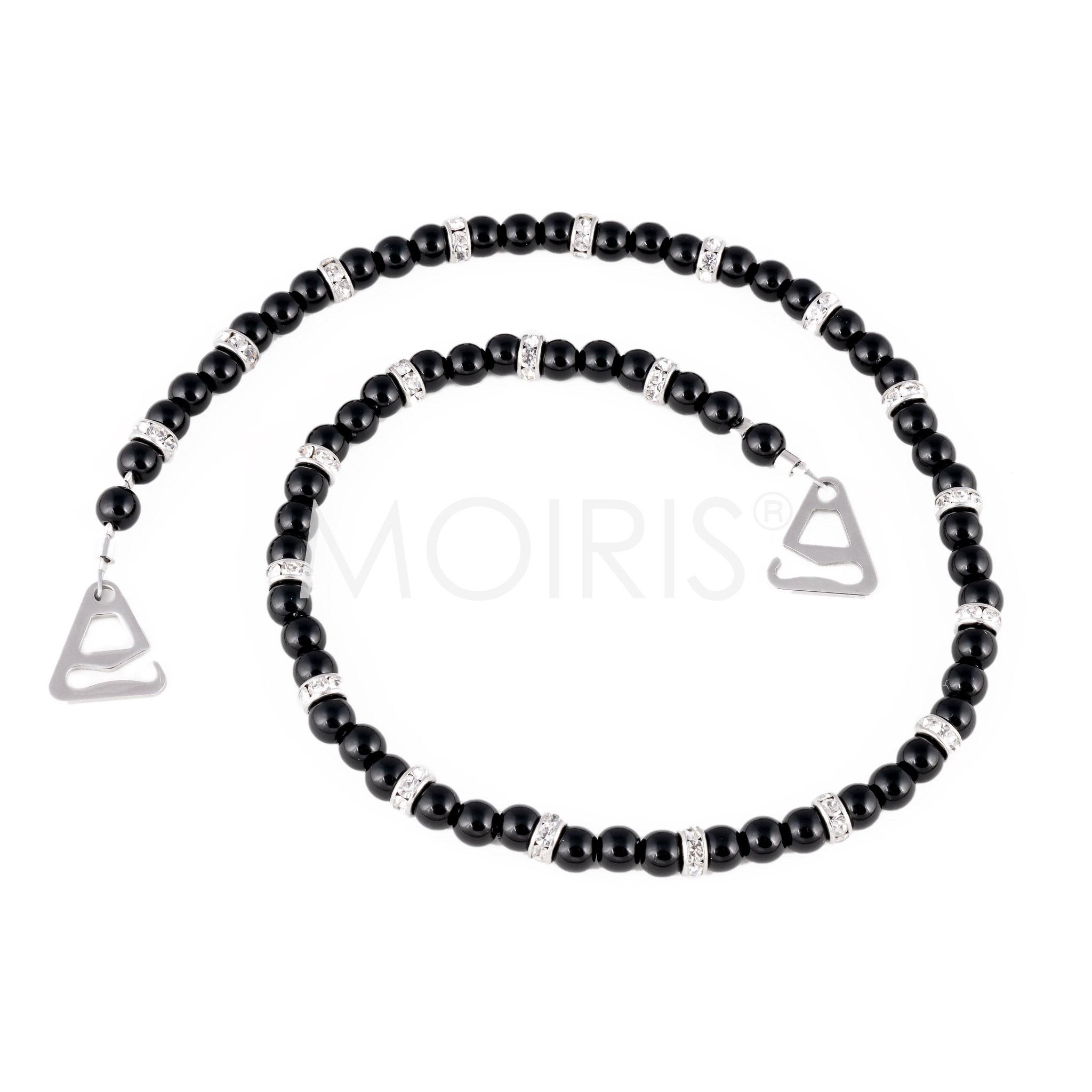 BH-Schmuckträger Miranda - schwarze Perlen mit Strass