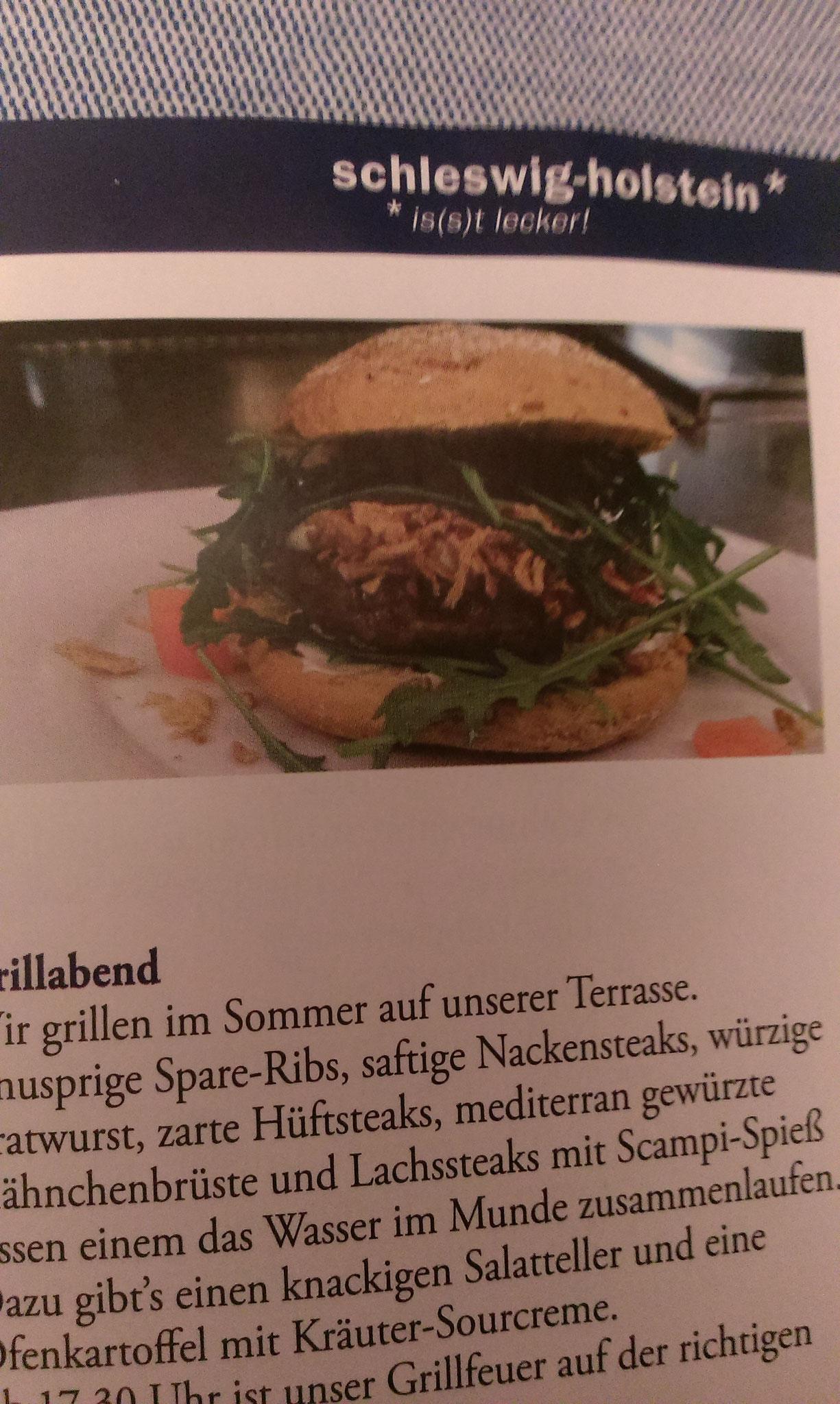 Grillen im Hotel & Restaurant Schlei Liesel mit dem Tanzen an der Schlei in Güby bei Schleswig