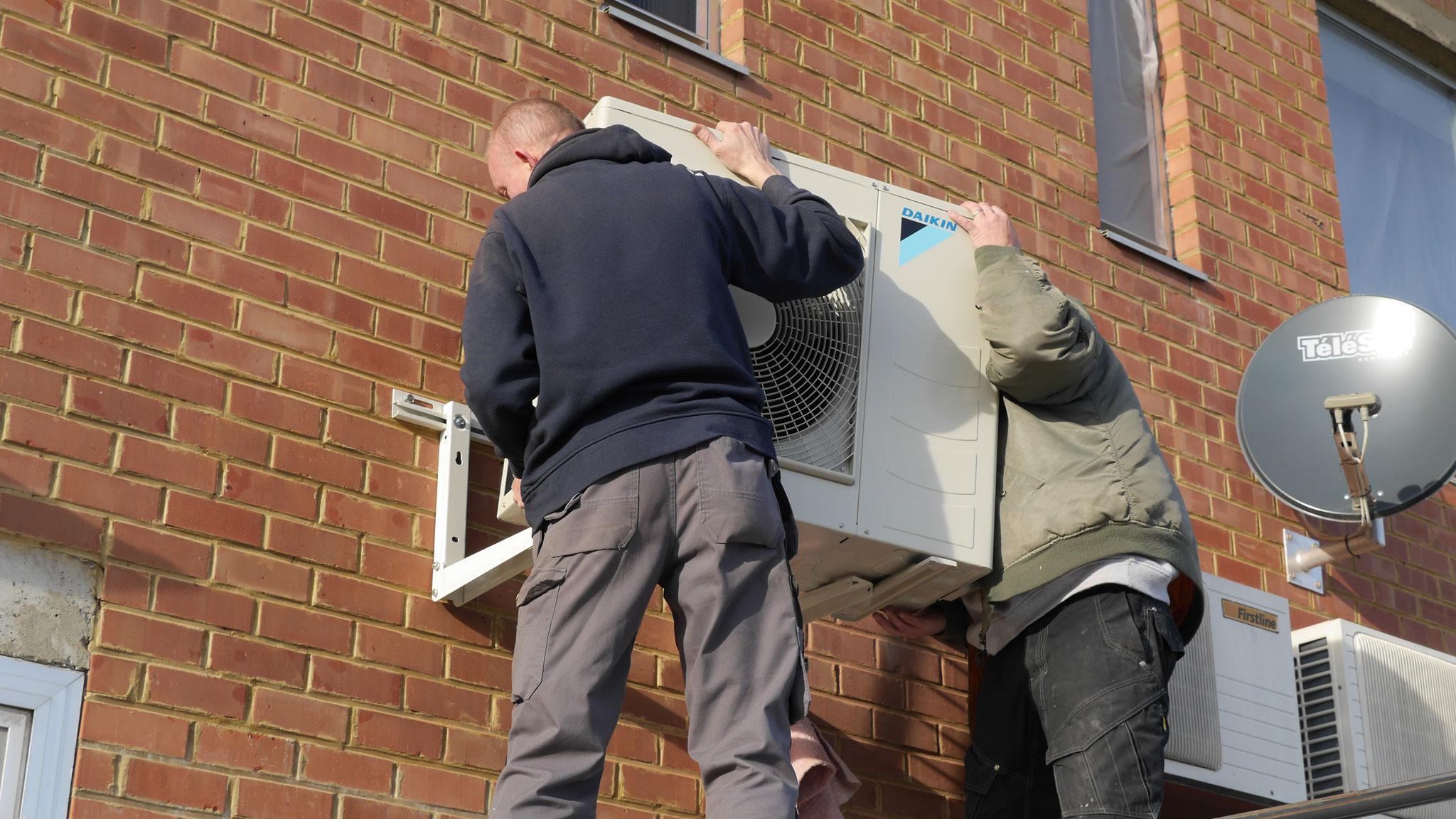 Installation pompe à chaleur air air