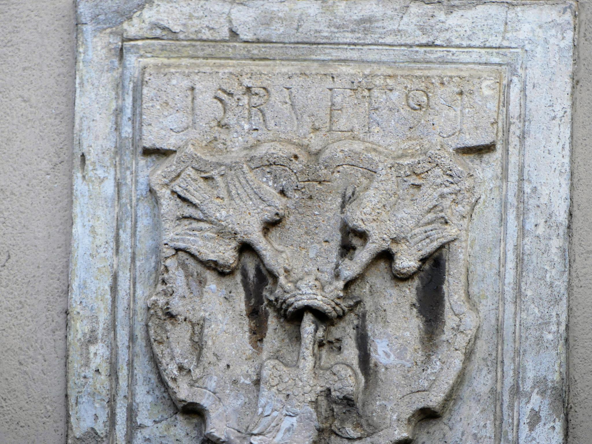 Wappen der Eggenberger - 3 Raben mit der Krone