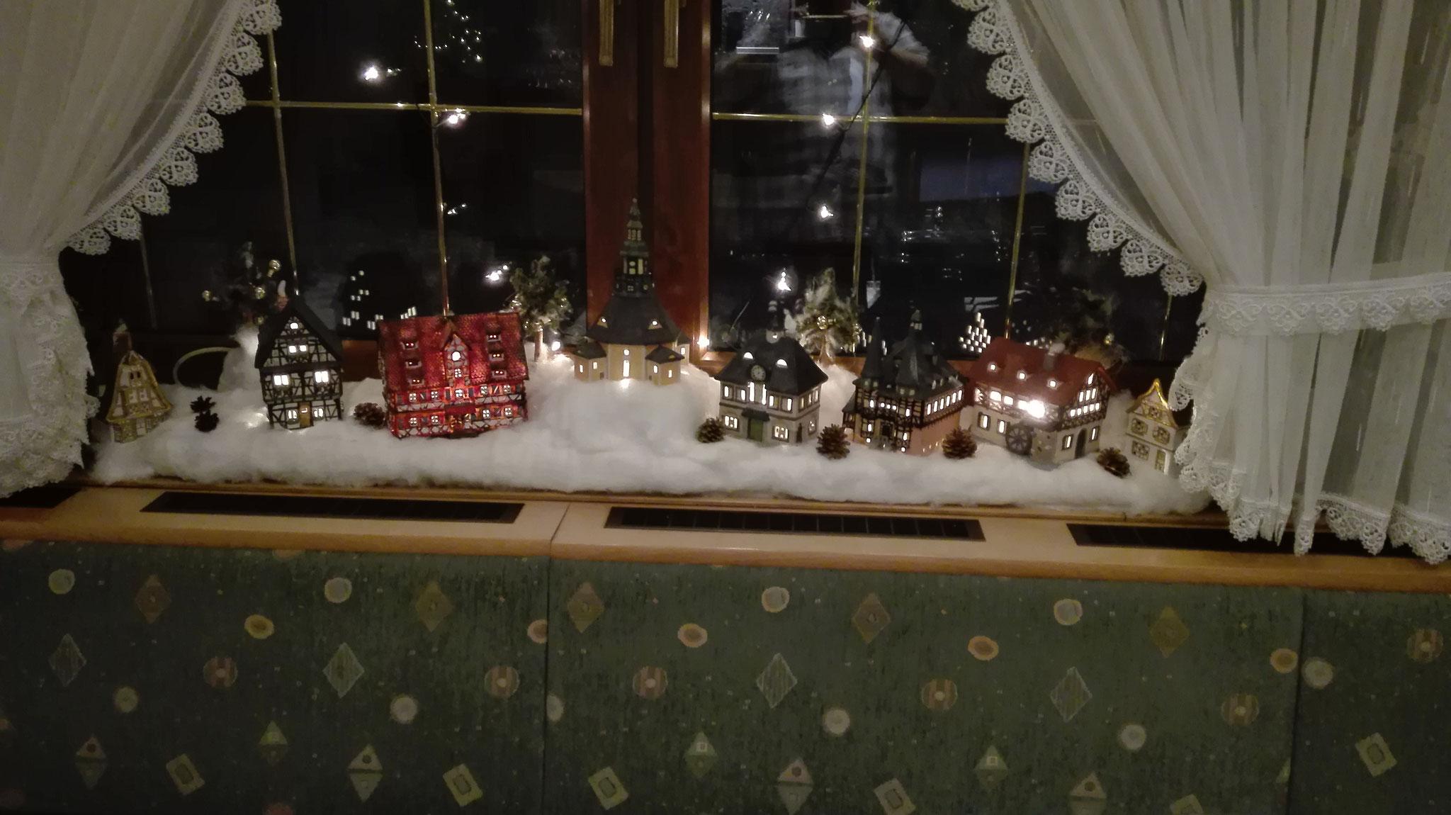 schöne weihnachtliche Deko in unserem Vereinslokel