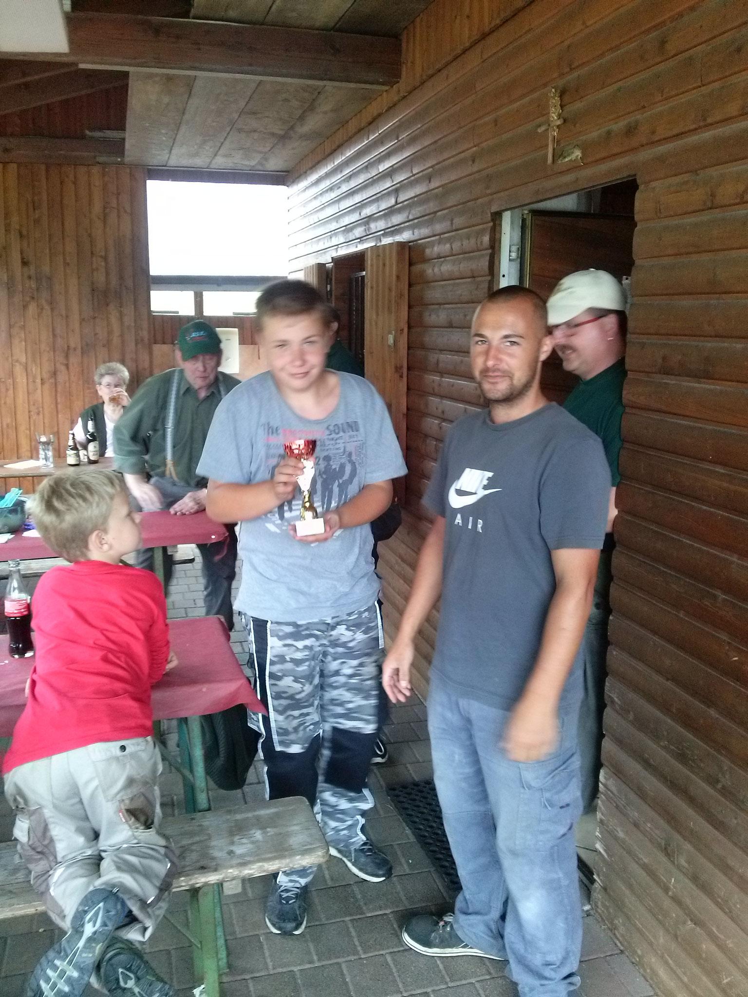 Zweiter Platz bei der Jugend:  Lukas