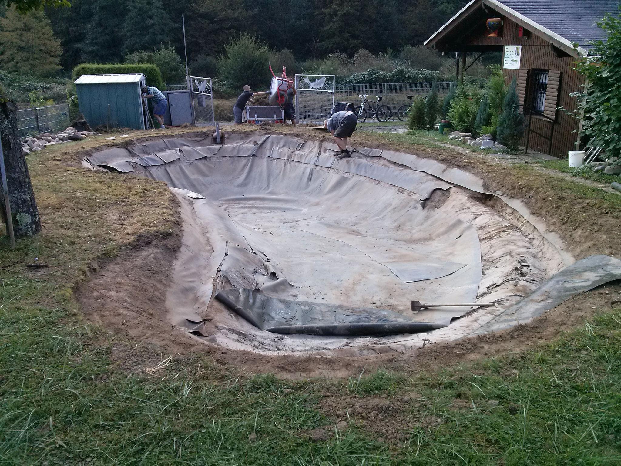 Das war der alte Teich.