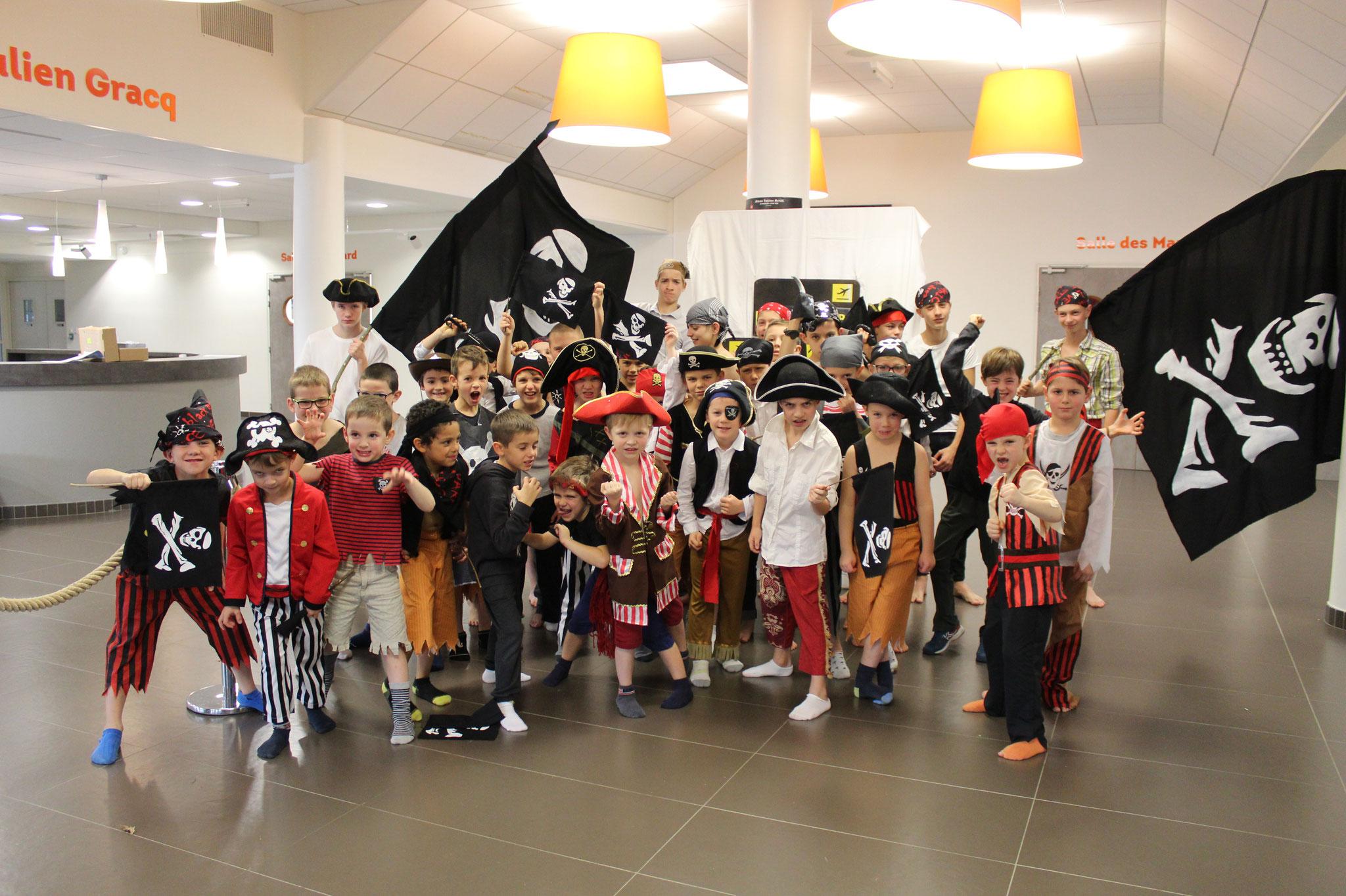 Les poussins et pupilles pirates débarquent