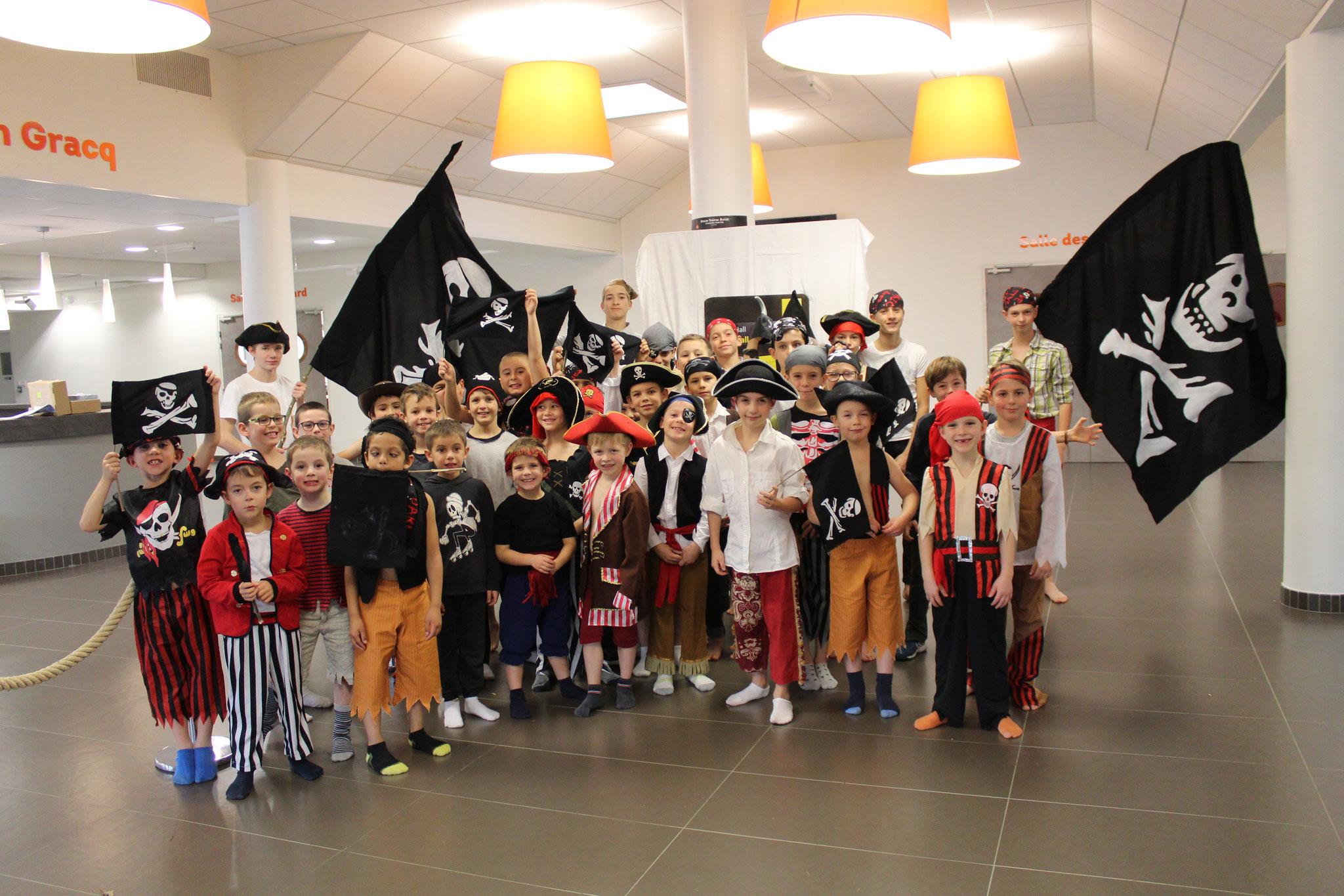 Les poussins et pupilles en pirates
