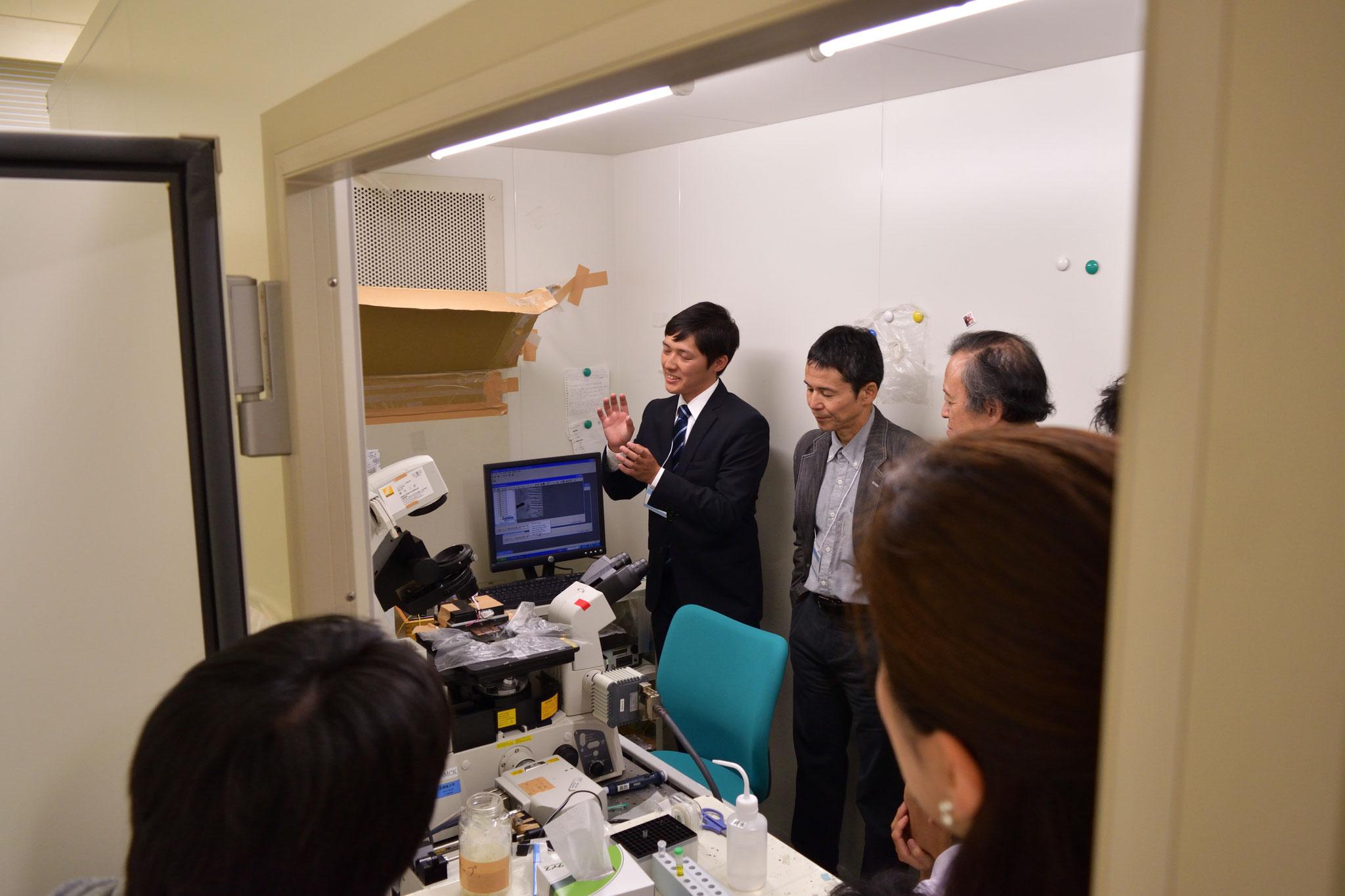 実験室見学2 生物用倒立顕微鏡